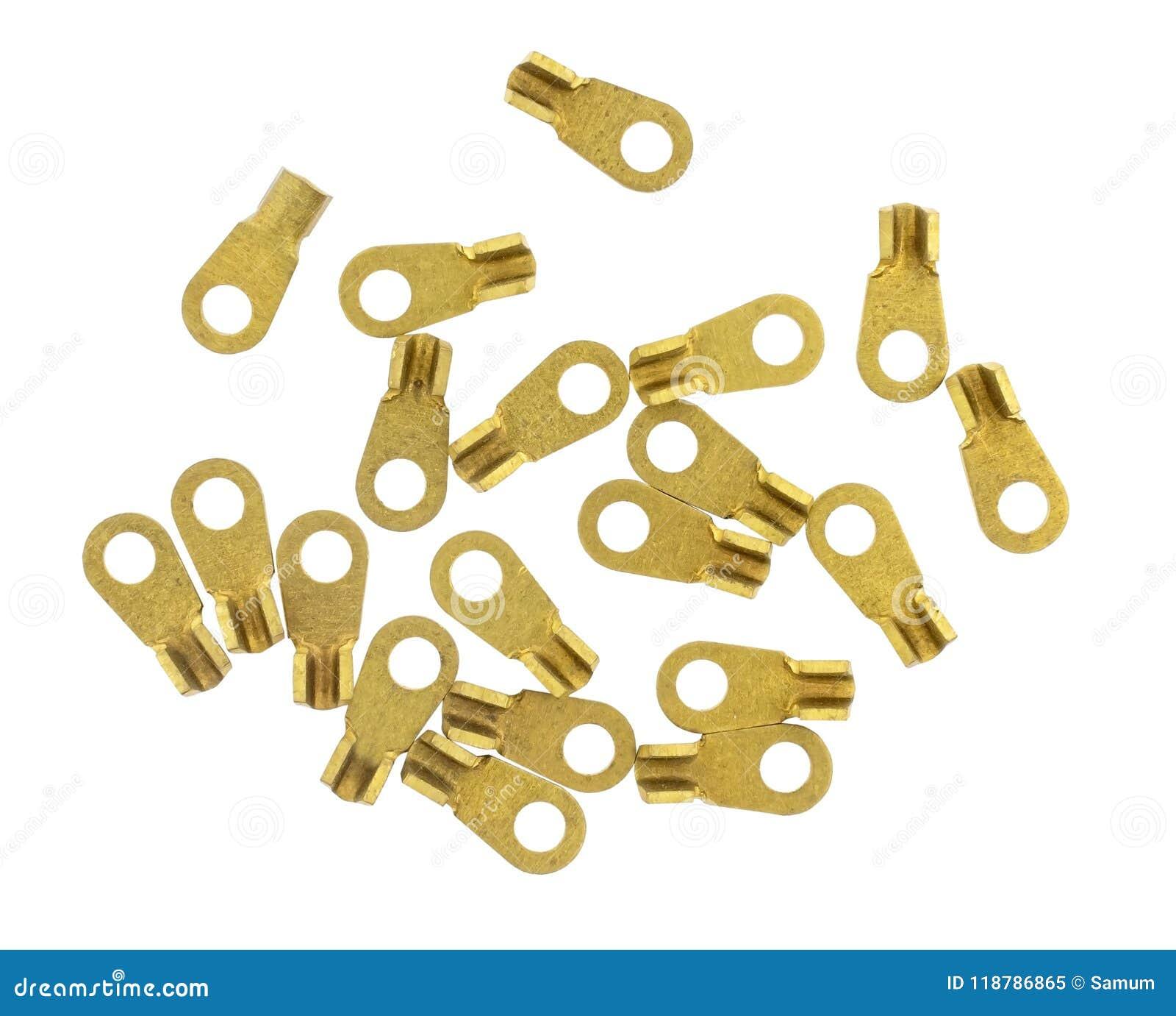 白色的黄铜电接头