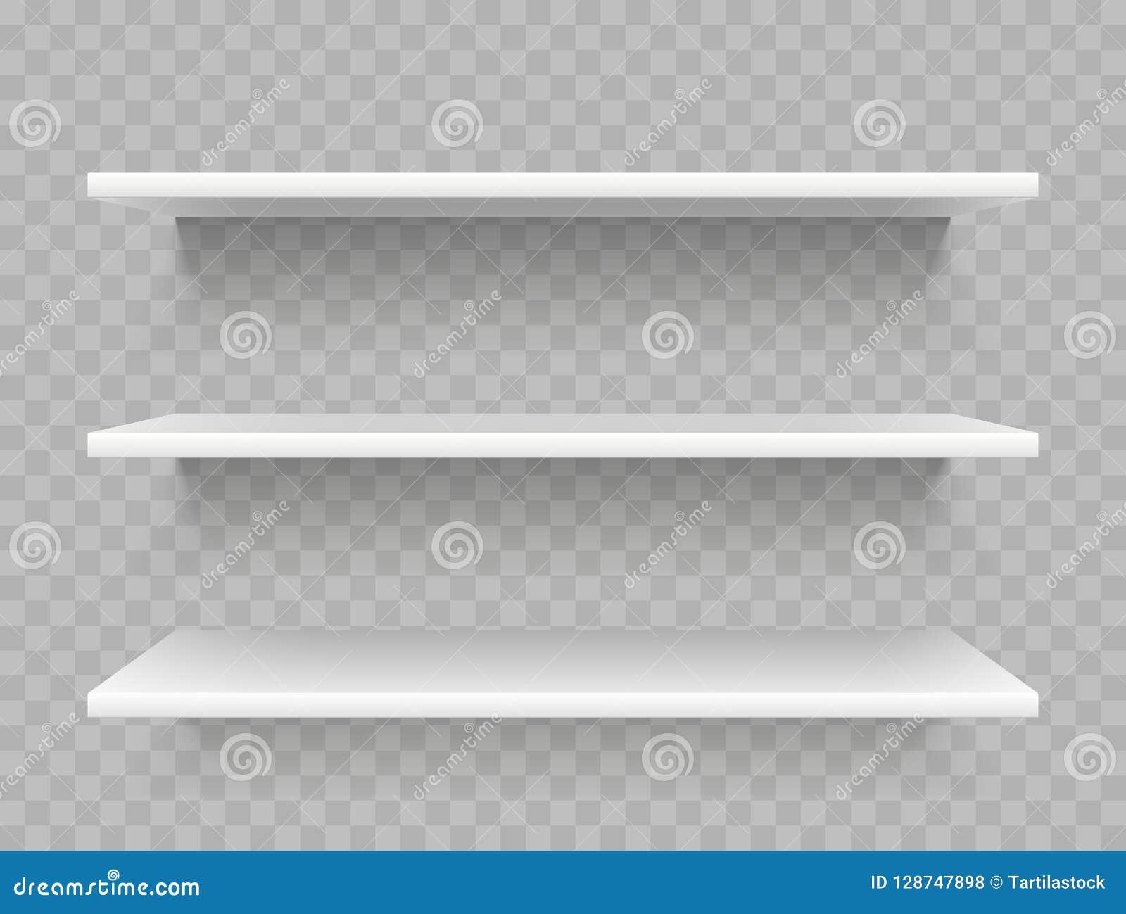 白色空的产品架子 超级市场显示,增进货架传染媒介模板