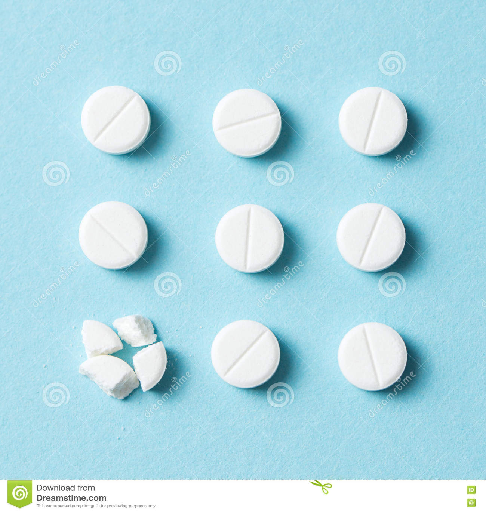 白色药片或医学