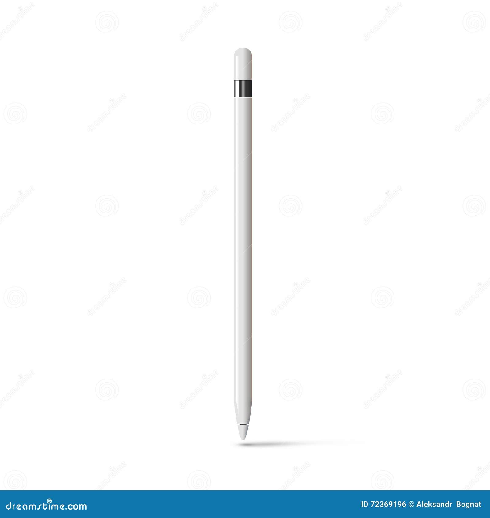 白色被隔绝的片剂铁笔图表铅笔棍子