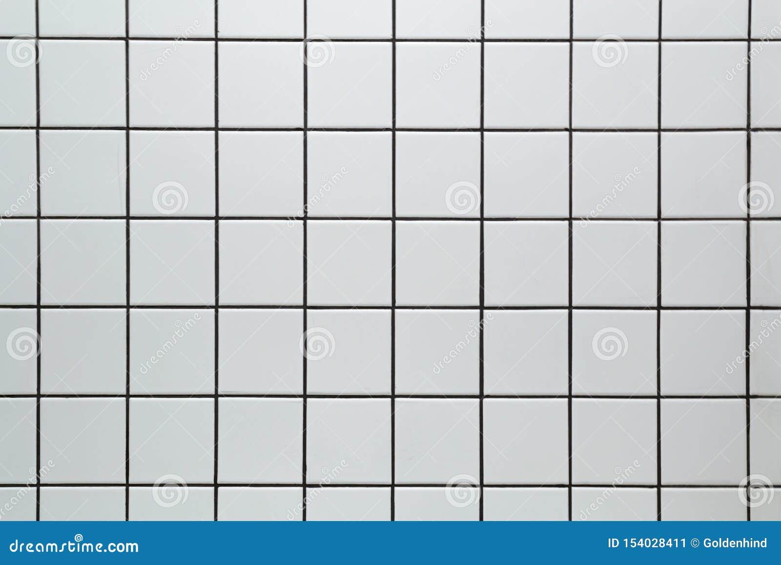 白色陶瓷方形的瓦片无缝的样式纹理背景