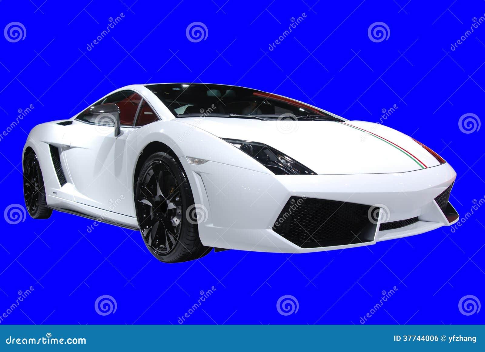 白色lamborghini小轿车