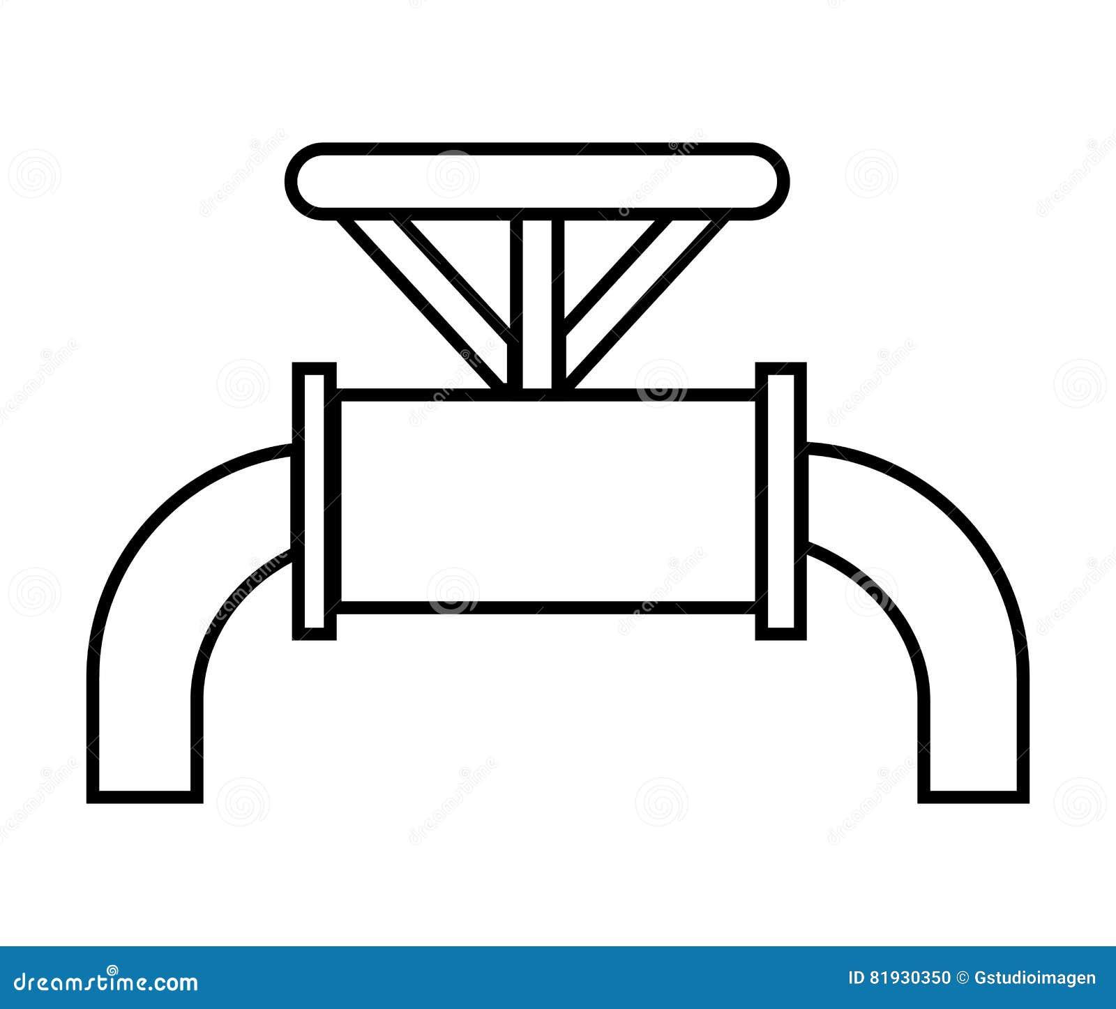 黑白水管,向量图形