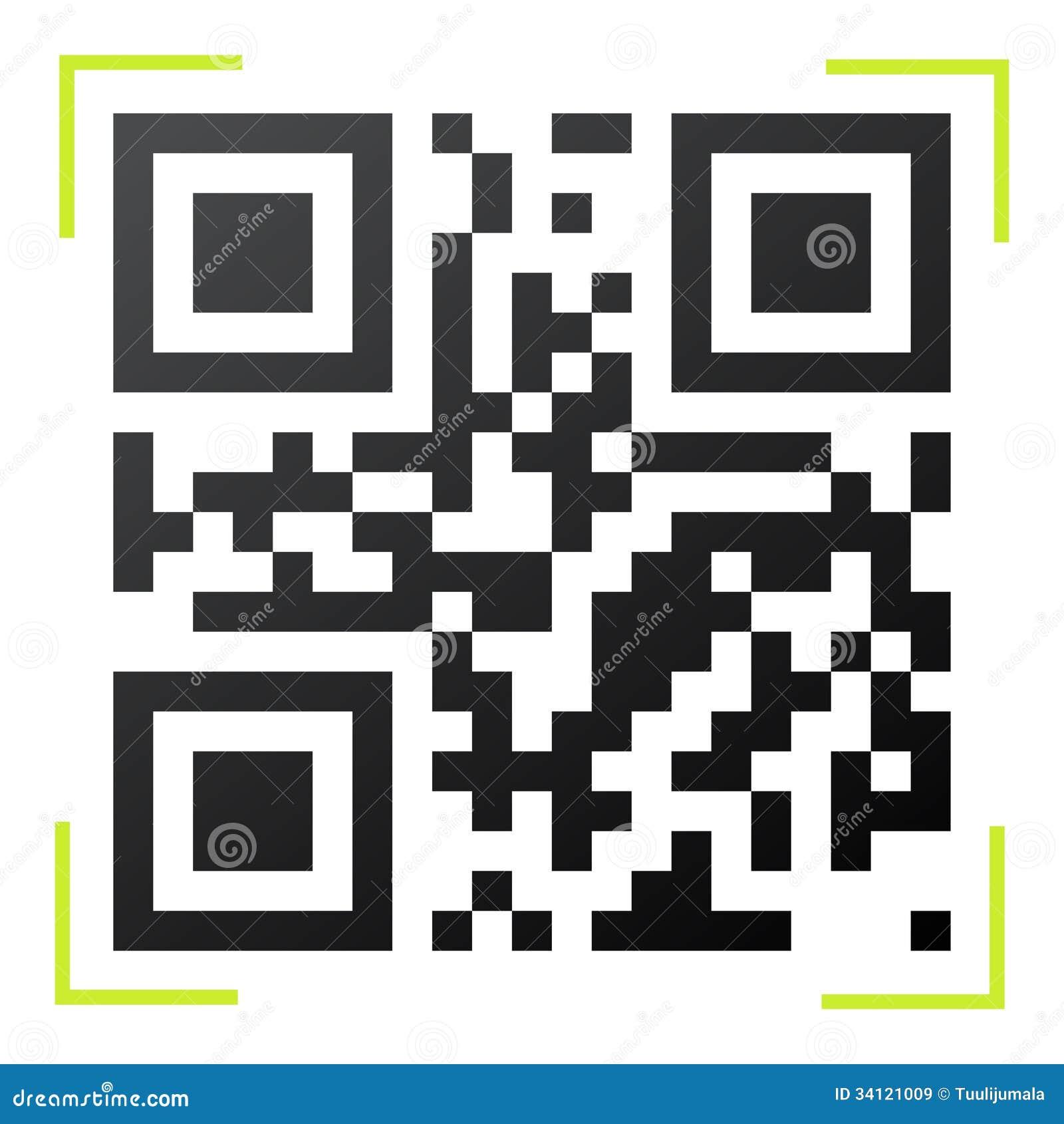 黑白QR代码