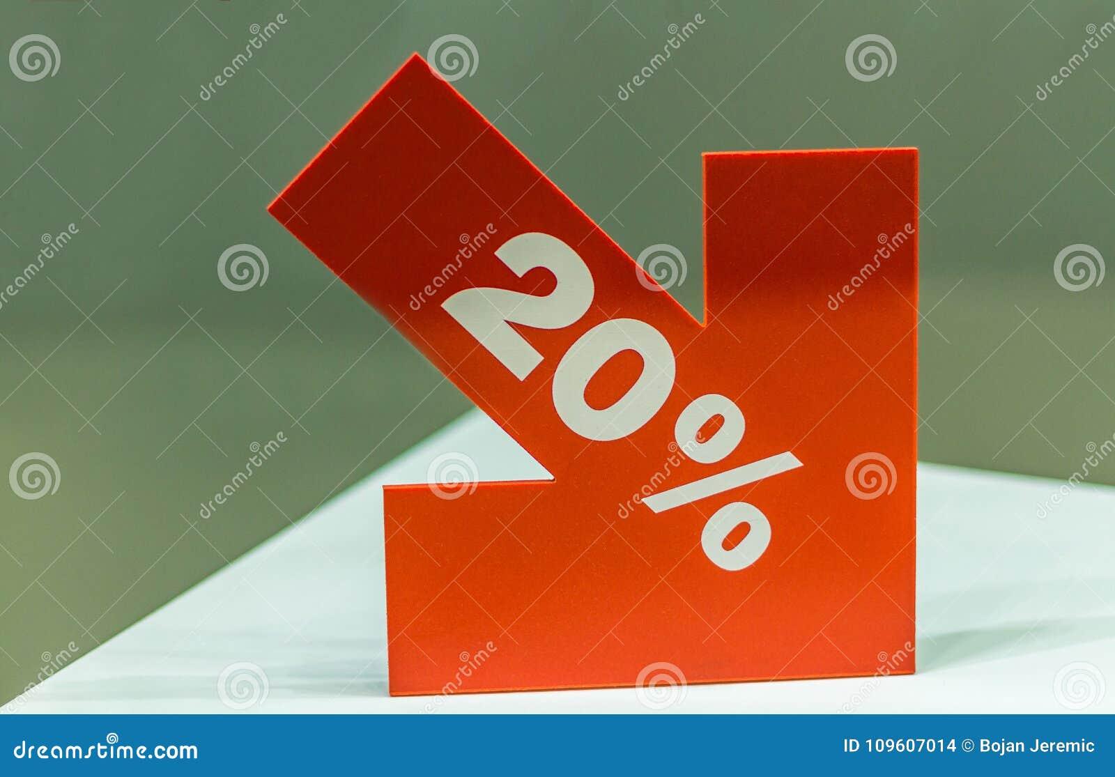 百分之二十折扣标志