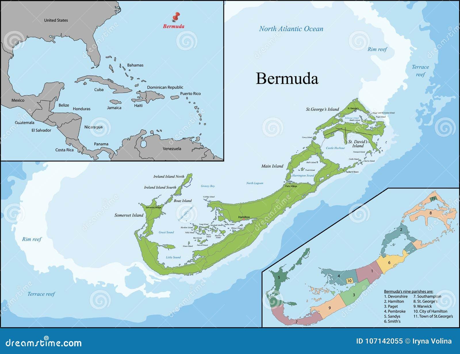 百慕大的地图