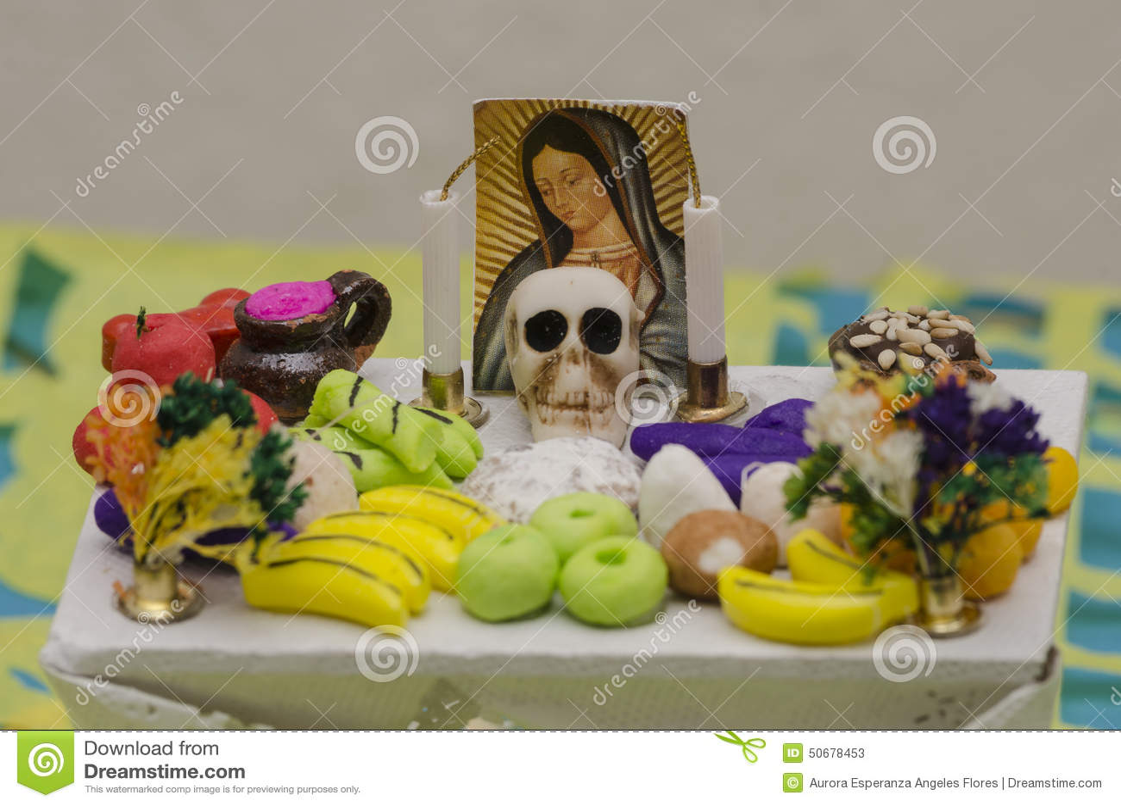 Download 死的提供的法坛的墨西哥天 库存图片. 图片 包括有 食物, 死亡, 水平, 民间传说, 提供, 墨西哥, 蜡烛 - 50678453
