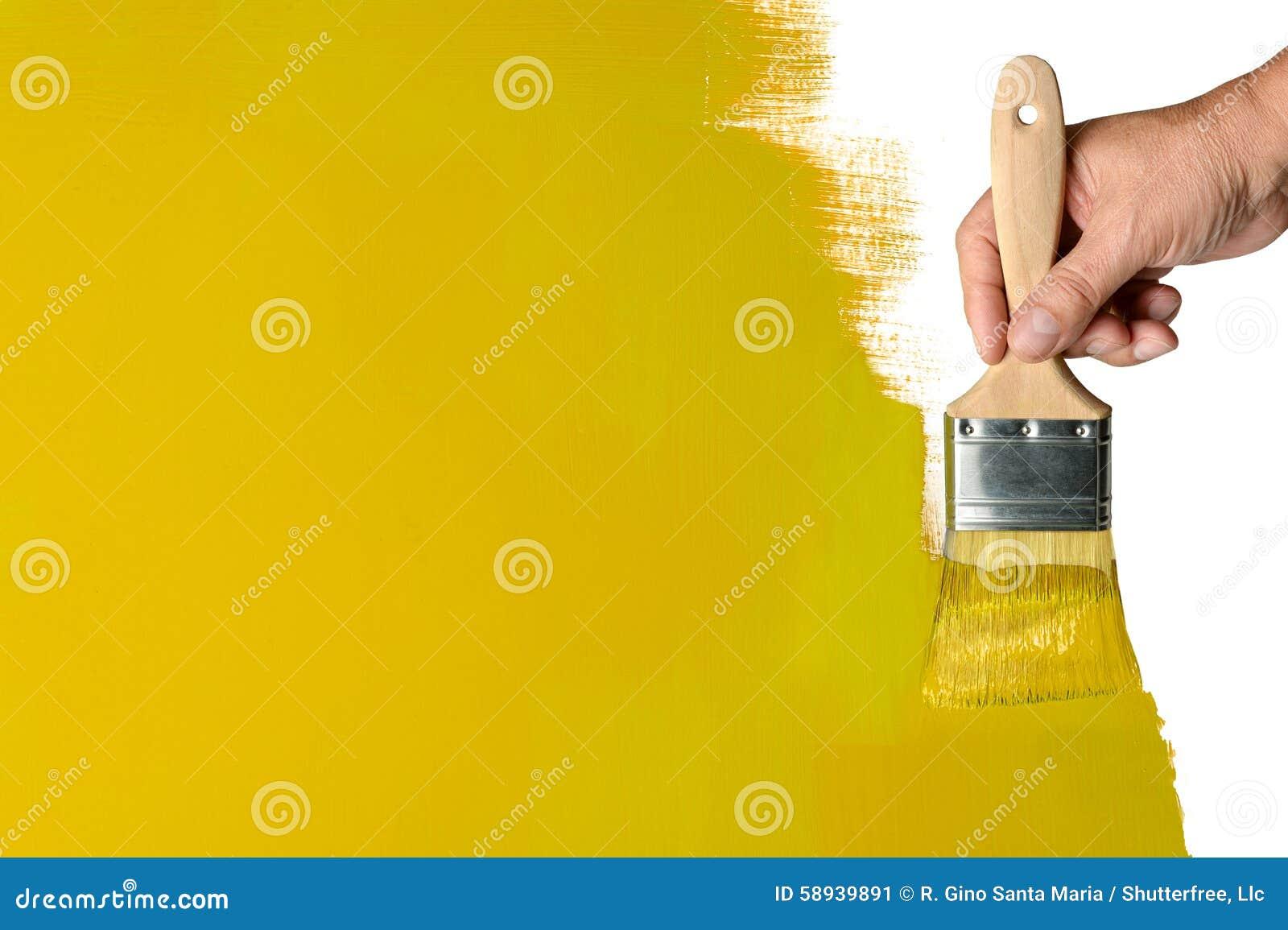 绘的黄色墙壁