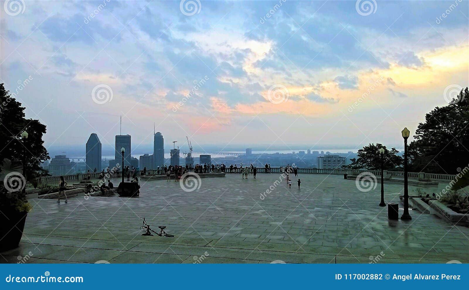 皇家山广场看法在蒙特利尔