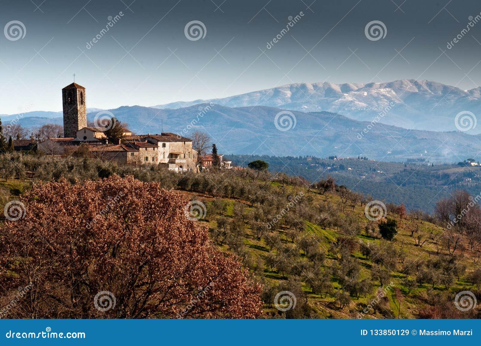 皮耶夫二圣塔切奇利娅在圣Casciano的Decimo在意大利