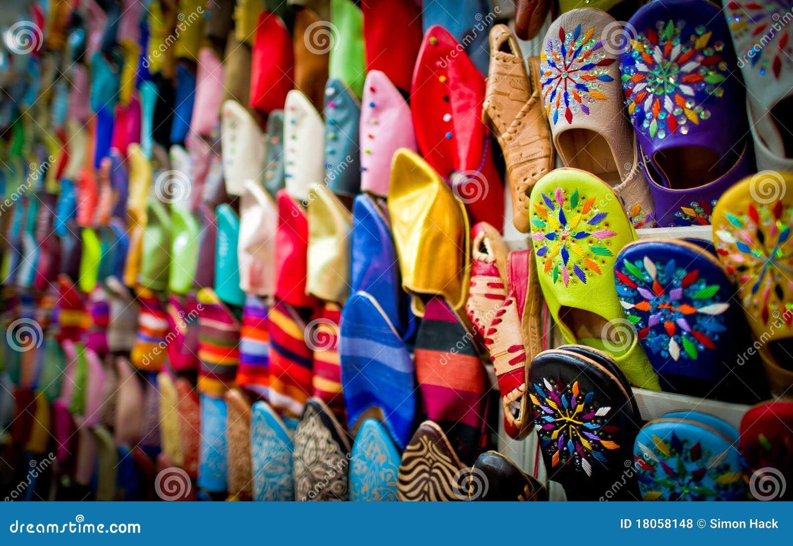 皮革马拉喀什摩洛哥拖鞋