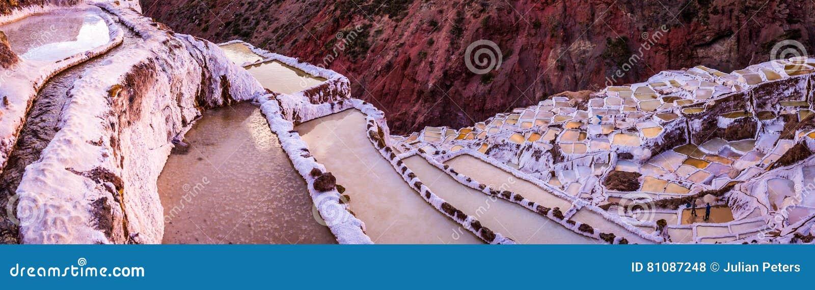 盐看法筑成池塘, Maras,库斯科省,秘鲁