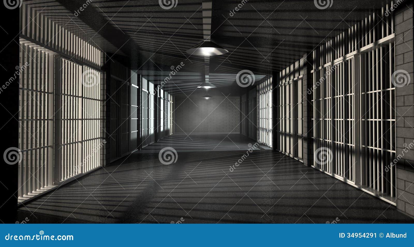 监狱走廊和细胞