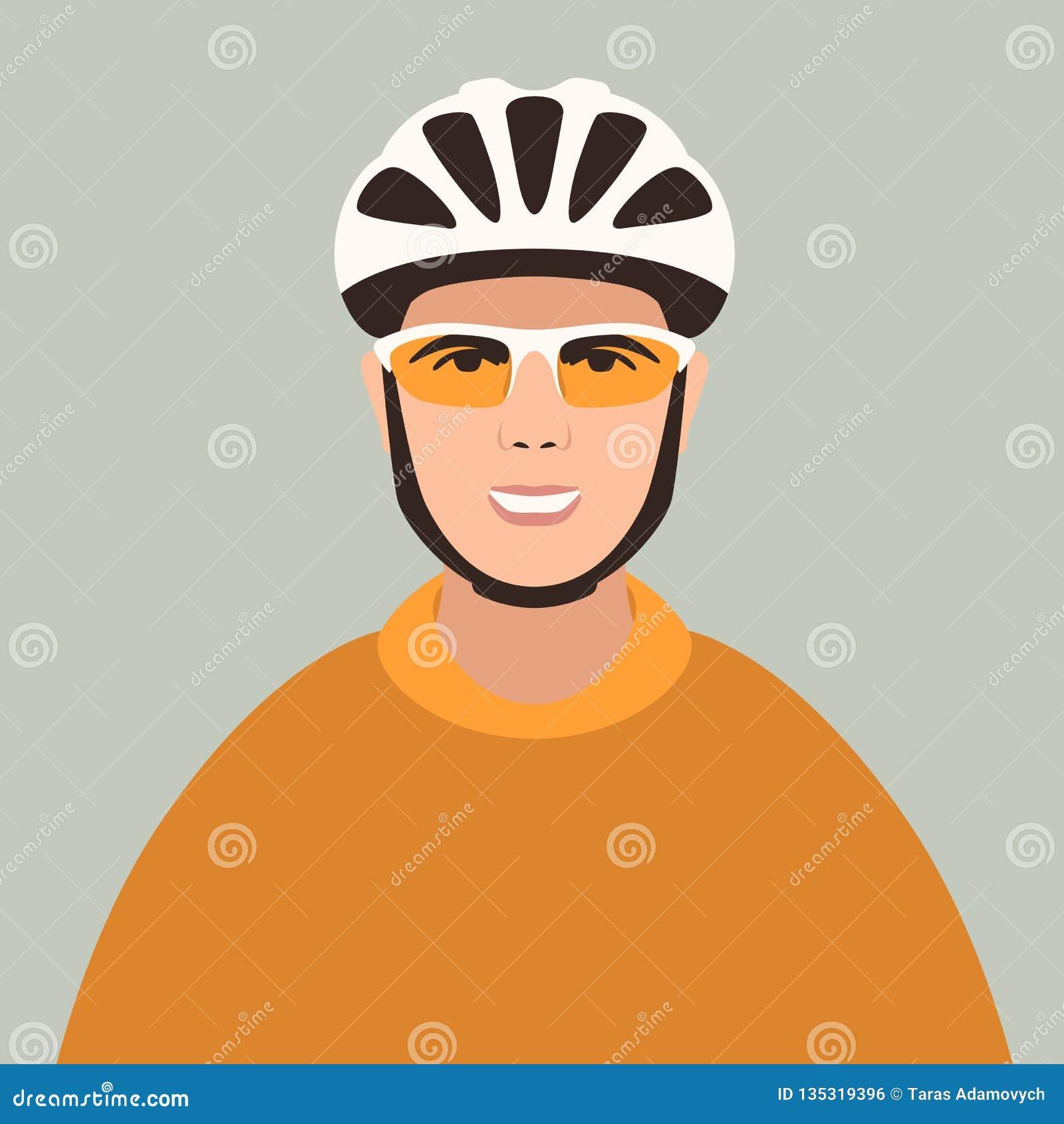 盔甲的,传染媒介例证,平的样式面孔骑自行车者,