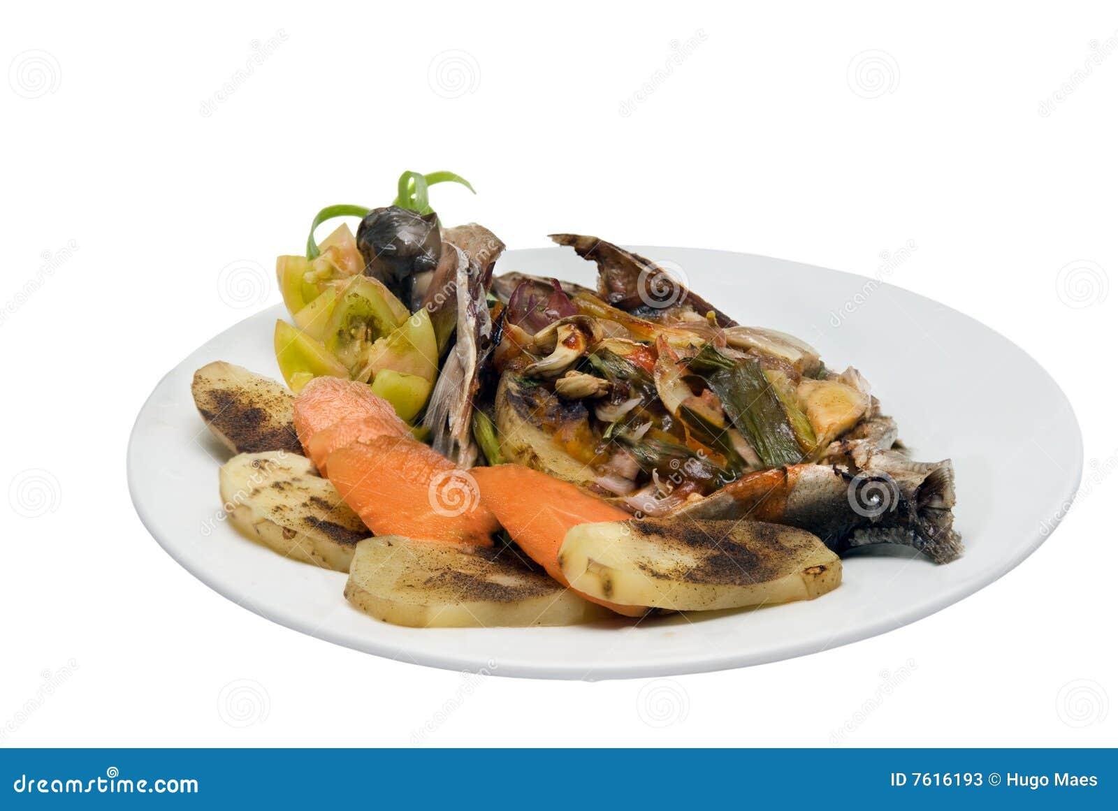 盘鱼食物热带素食者