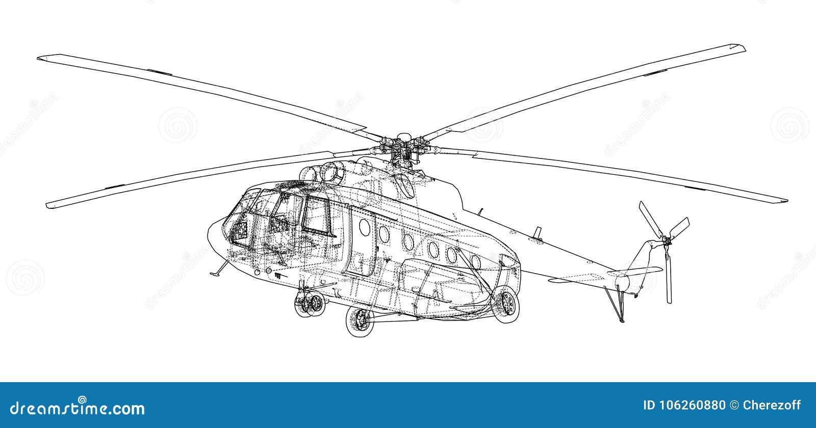 直升机工程图