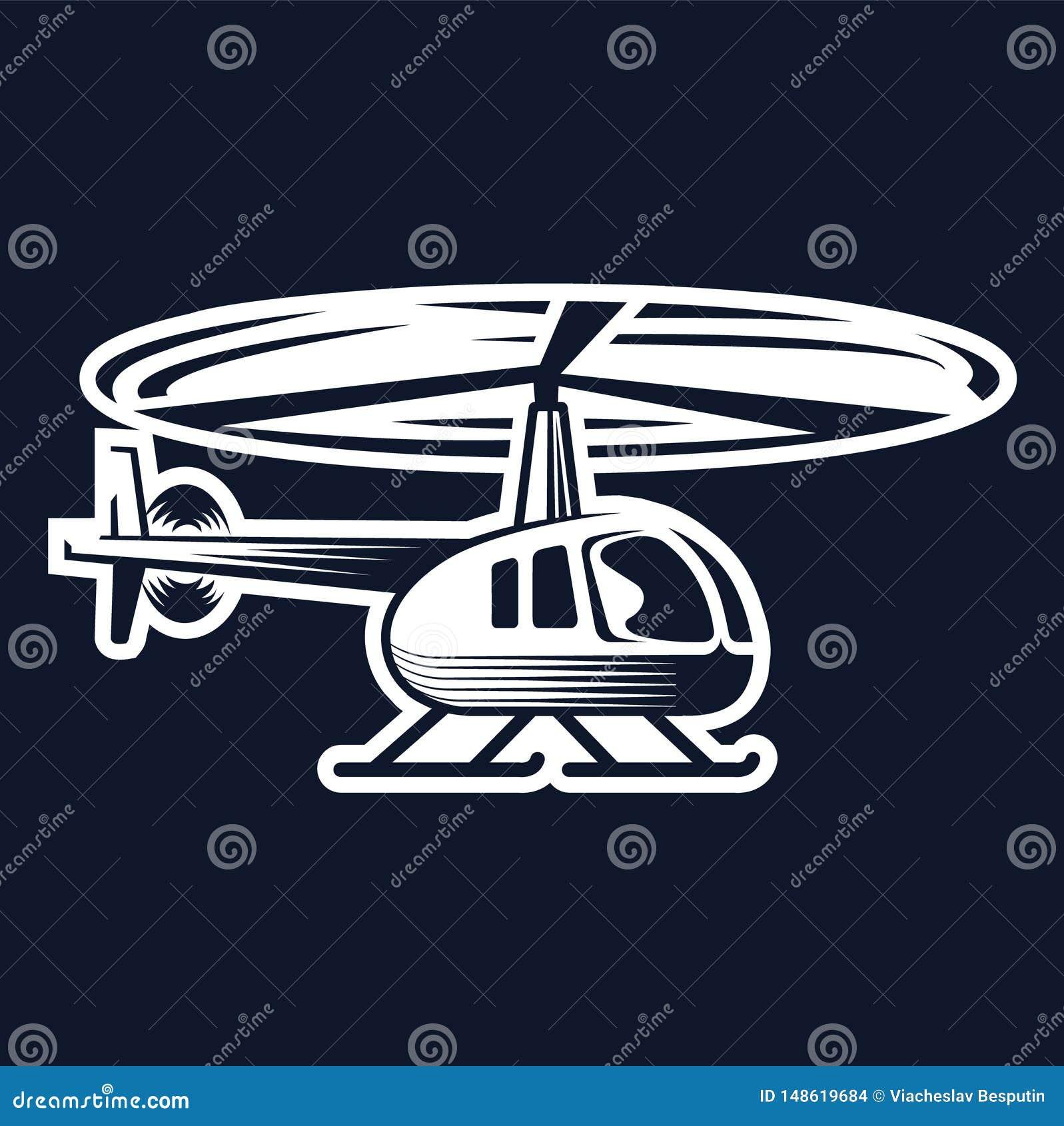直升机民用商标,象征设计