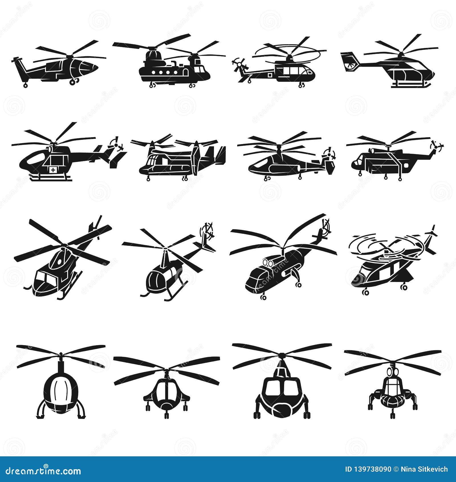 直升机象集合,简单的样式