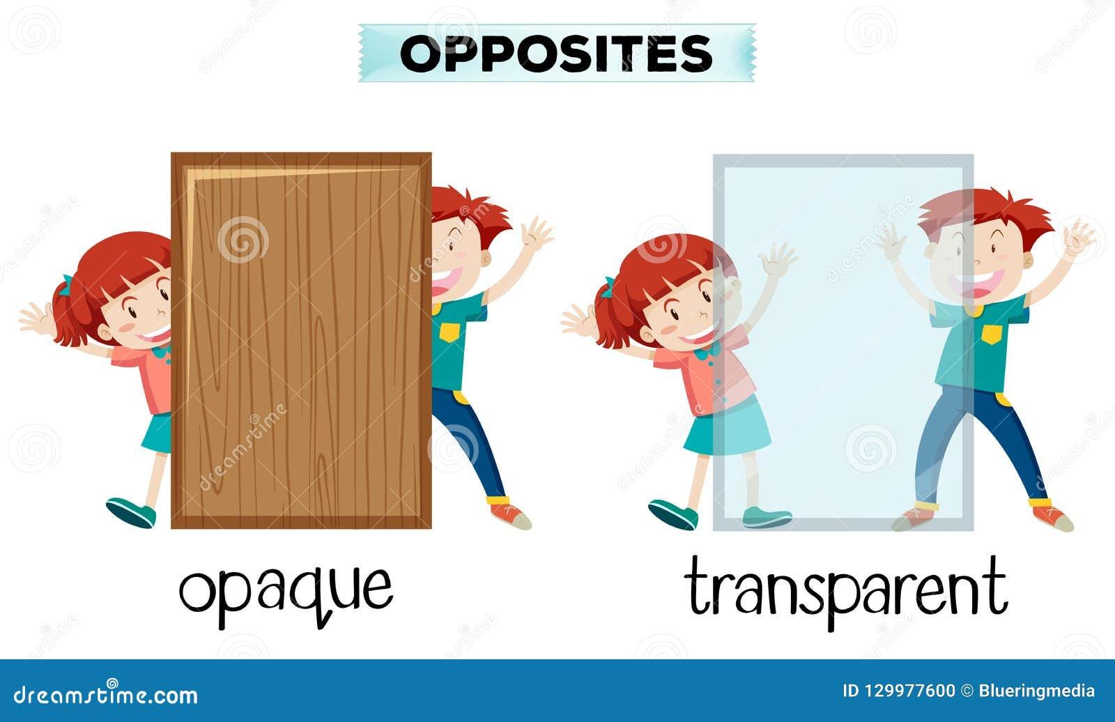 相反词的不透明和透明