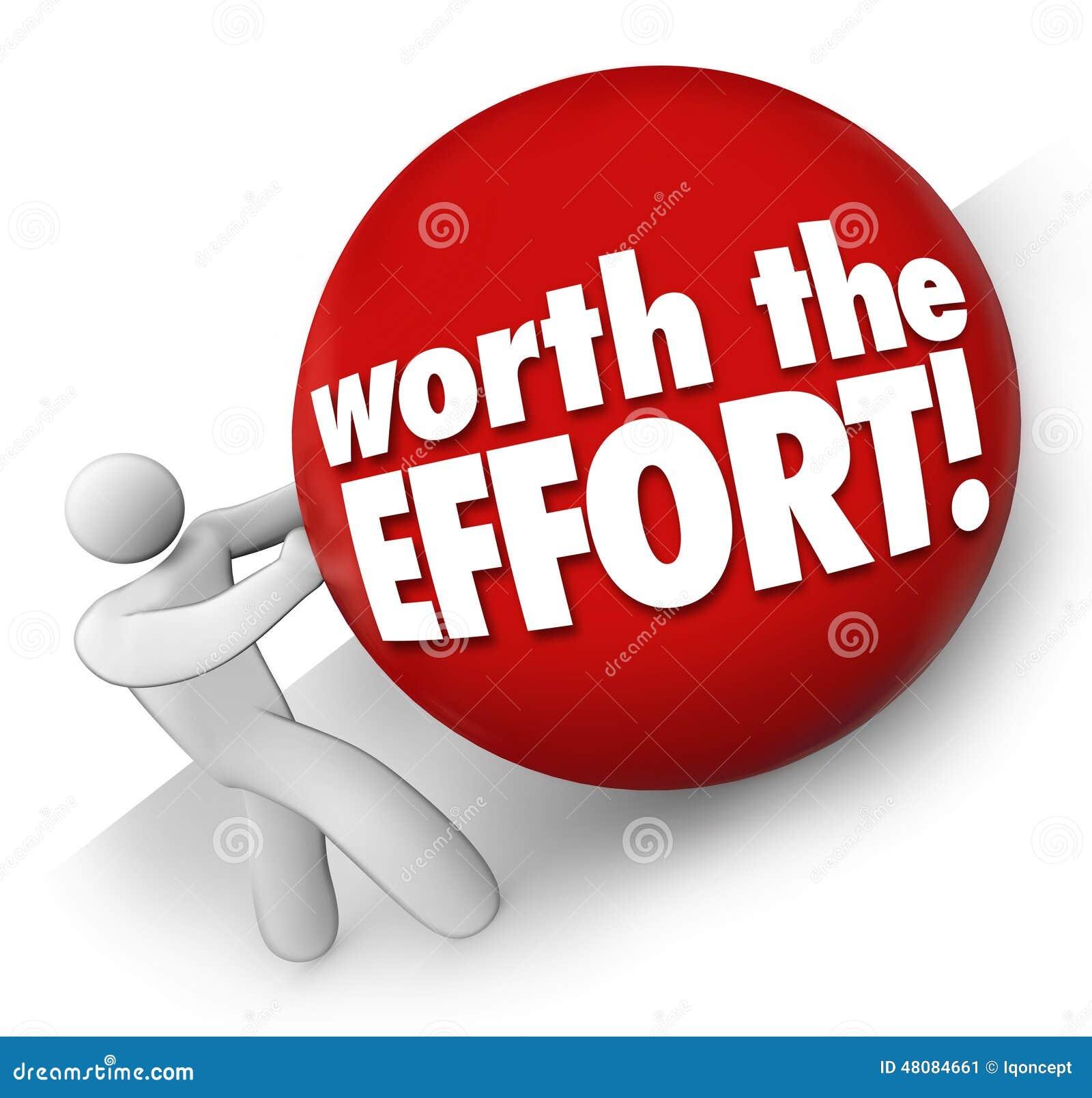 相当努力人滚球艰难挑战工作任务工作价值