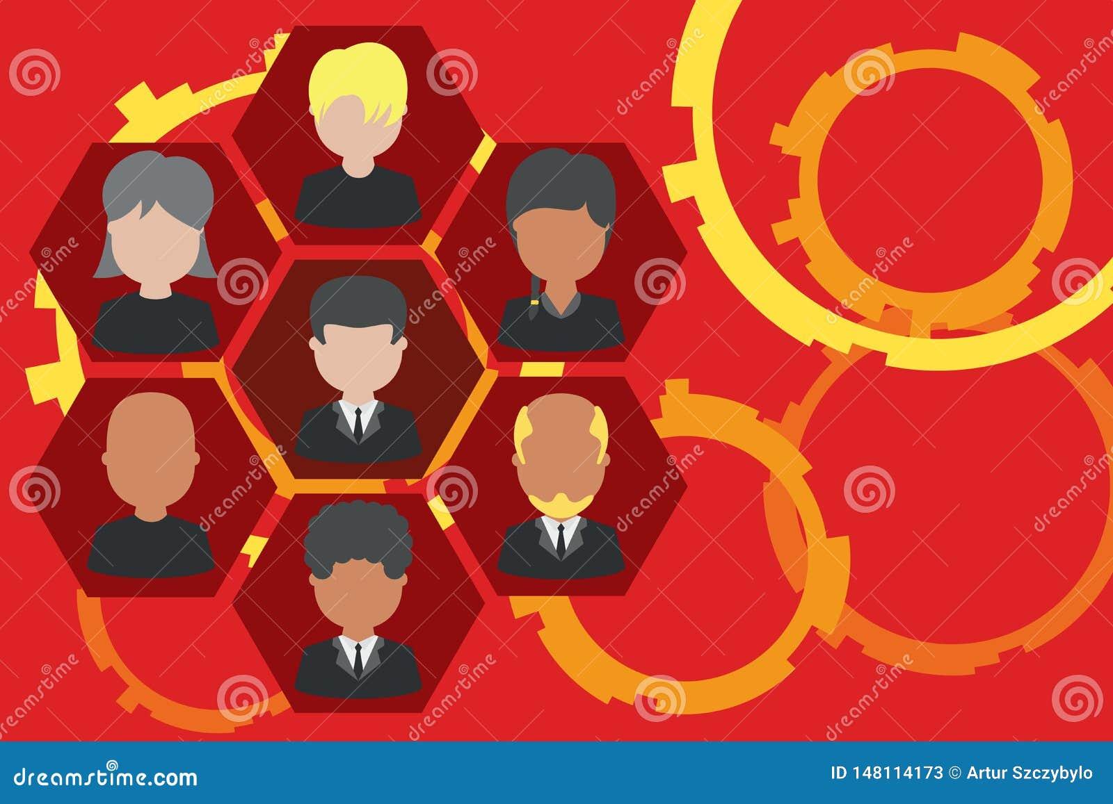 相框首席执行官和职员 公司工作的人员 组织系统图CEO雇员 队公司