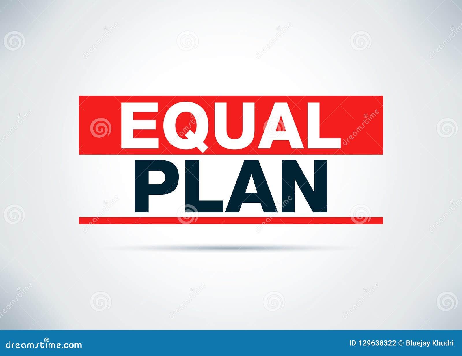 相等的计划摘要平的背景设计例证
