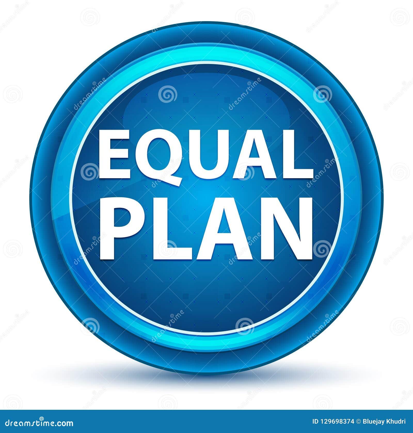 相等的计划眼珠蓝色圆的按钮