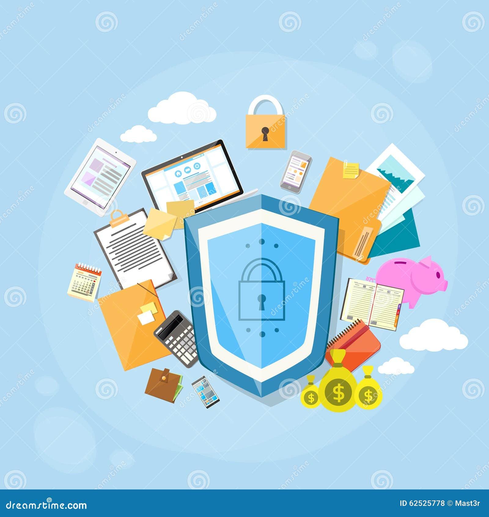 盾安全数据保护概念保密性图片
