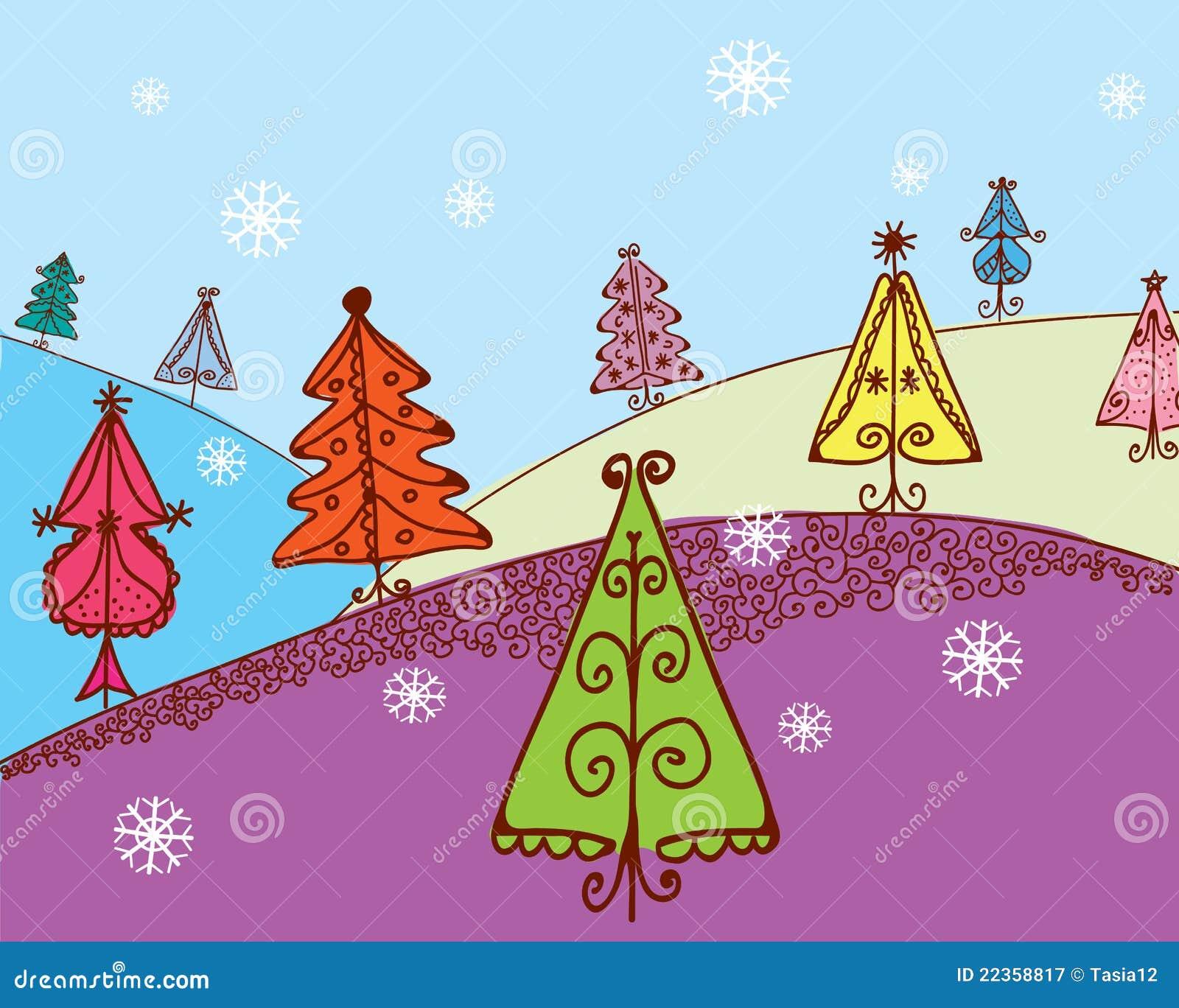 看板卡圣诞节冷杉
