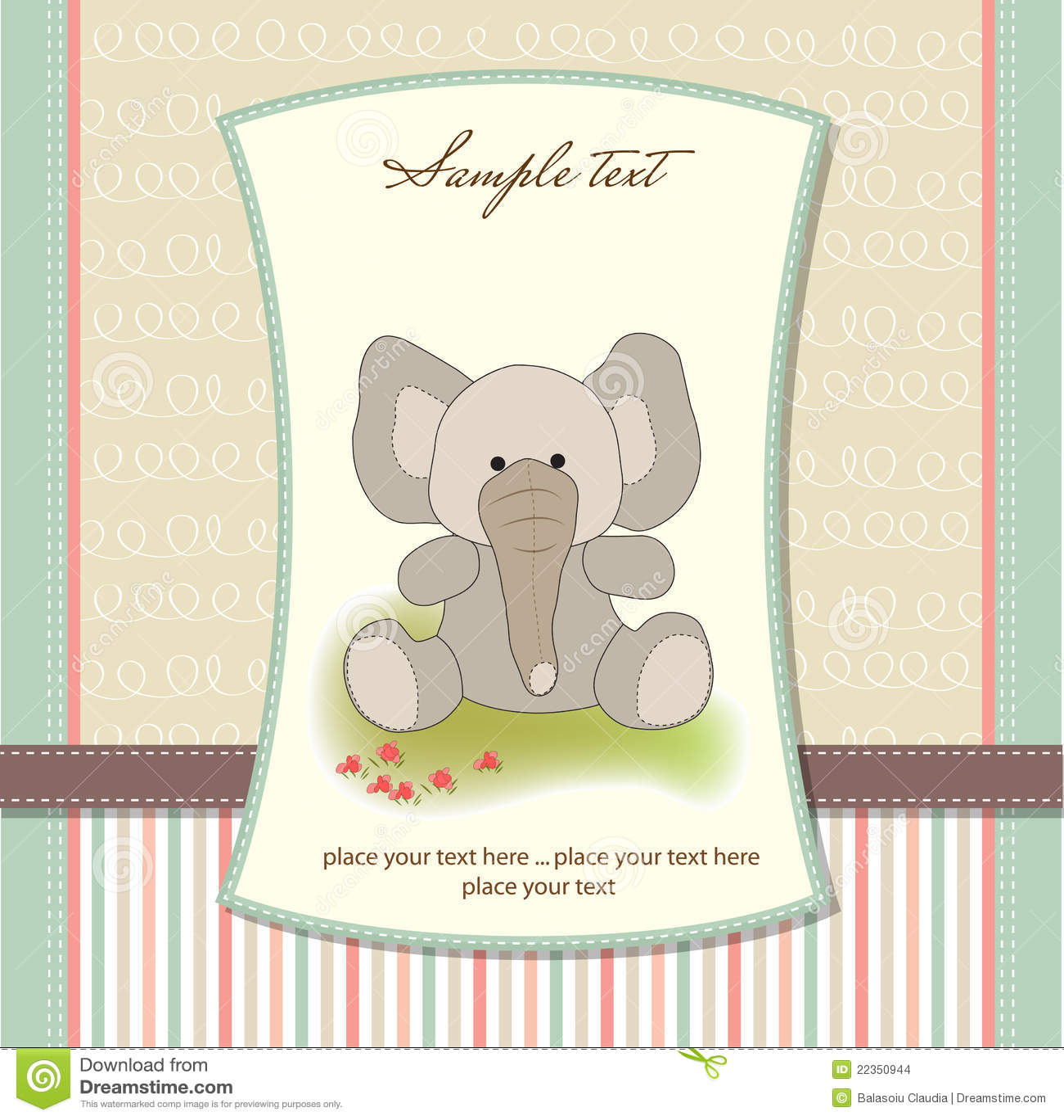 看板卡大象问候