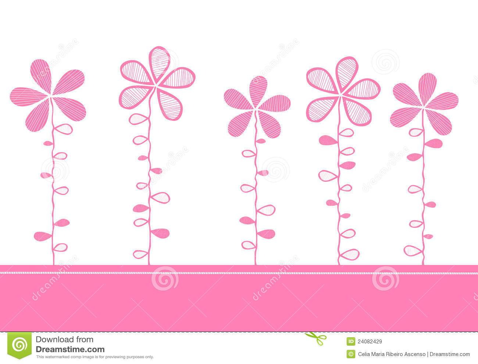 看板卡开花邀请粉红色