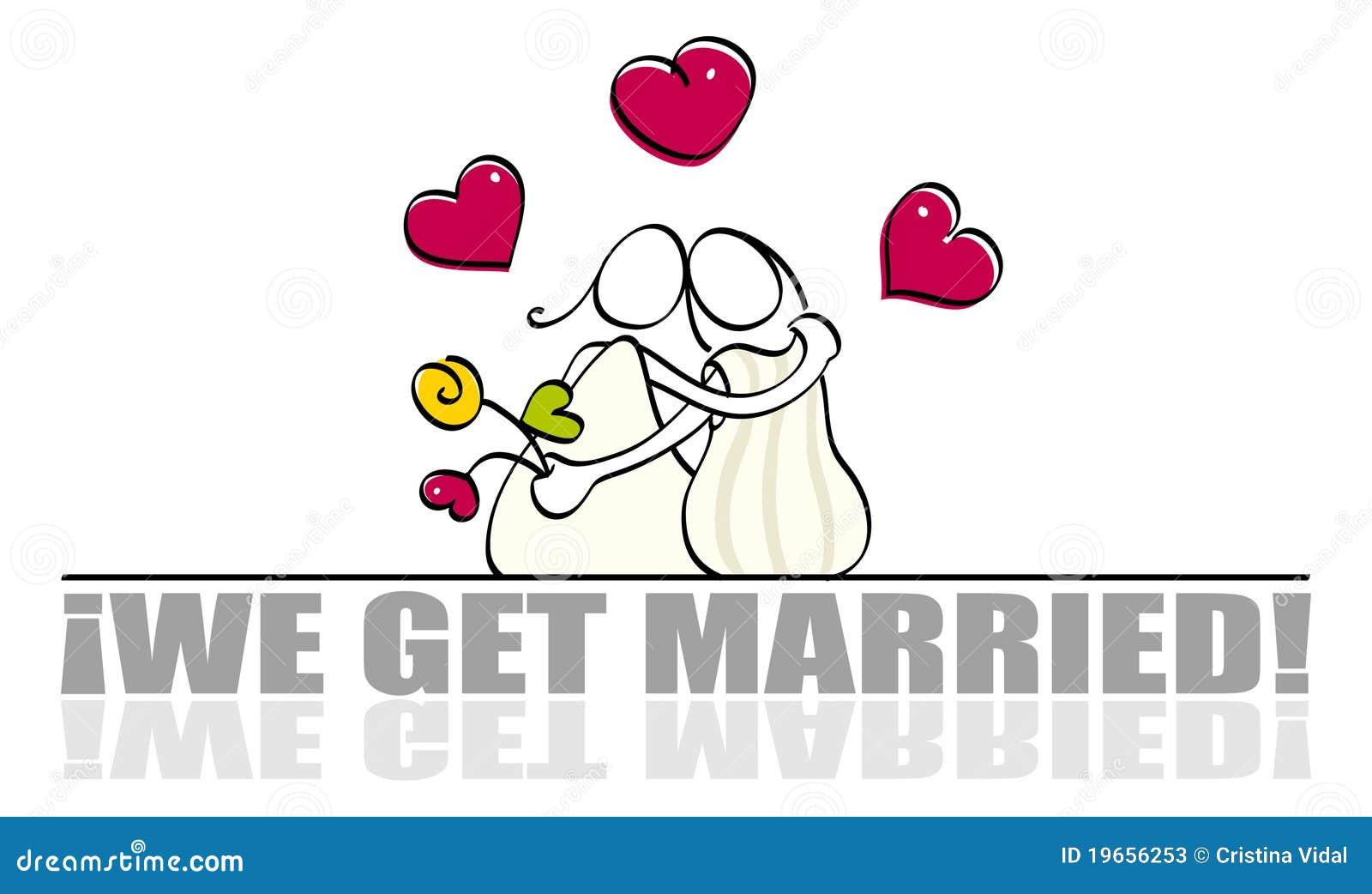 看板卡滑稽的女同性恋的婚礼