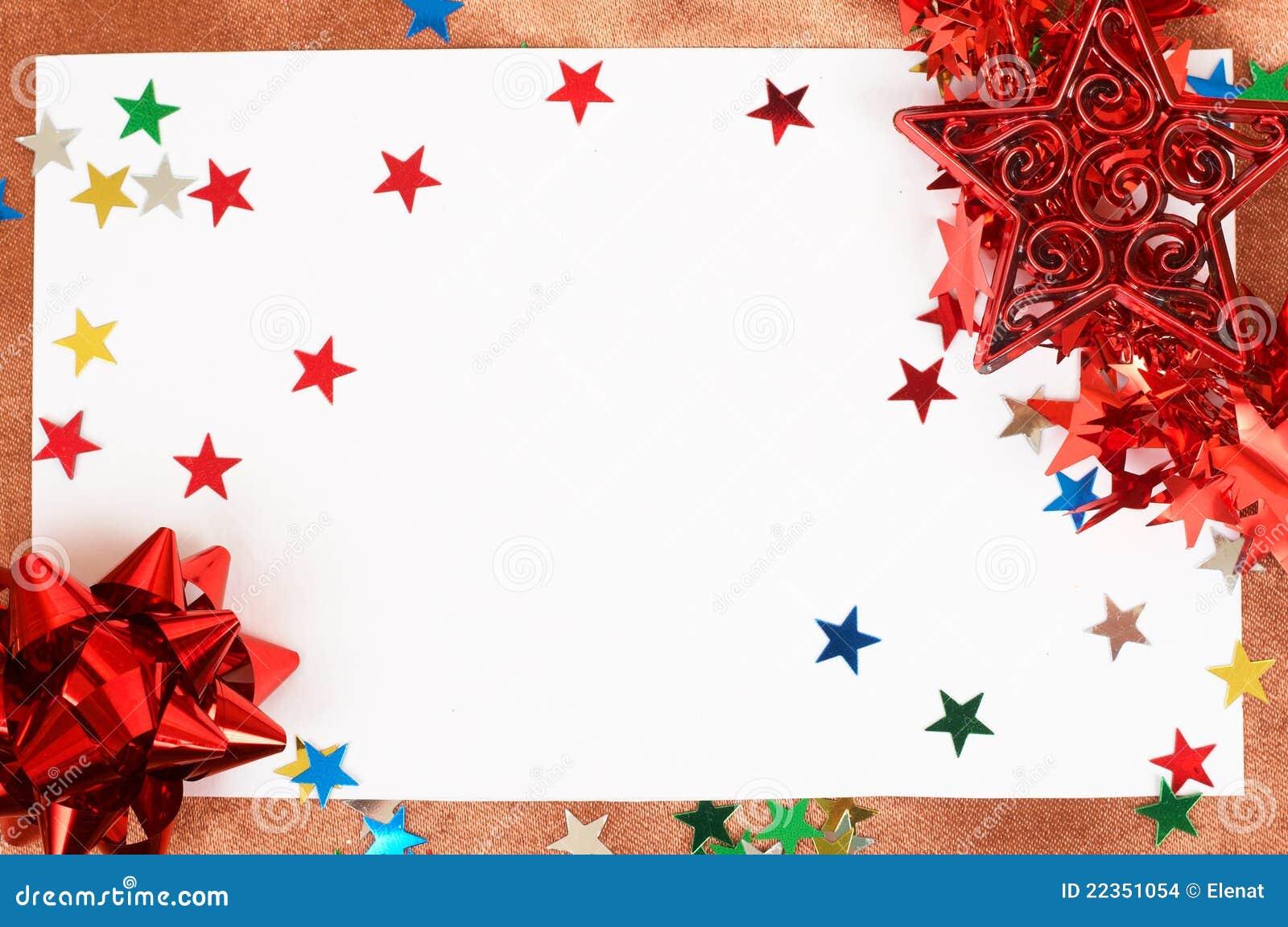 看板卡空白圣诞节的装饰