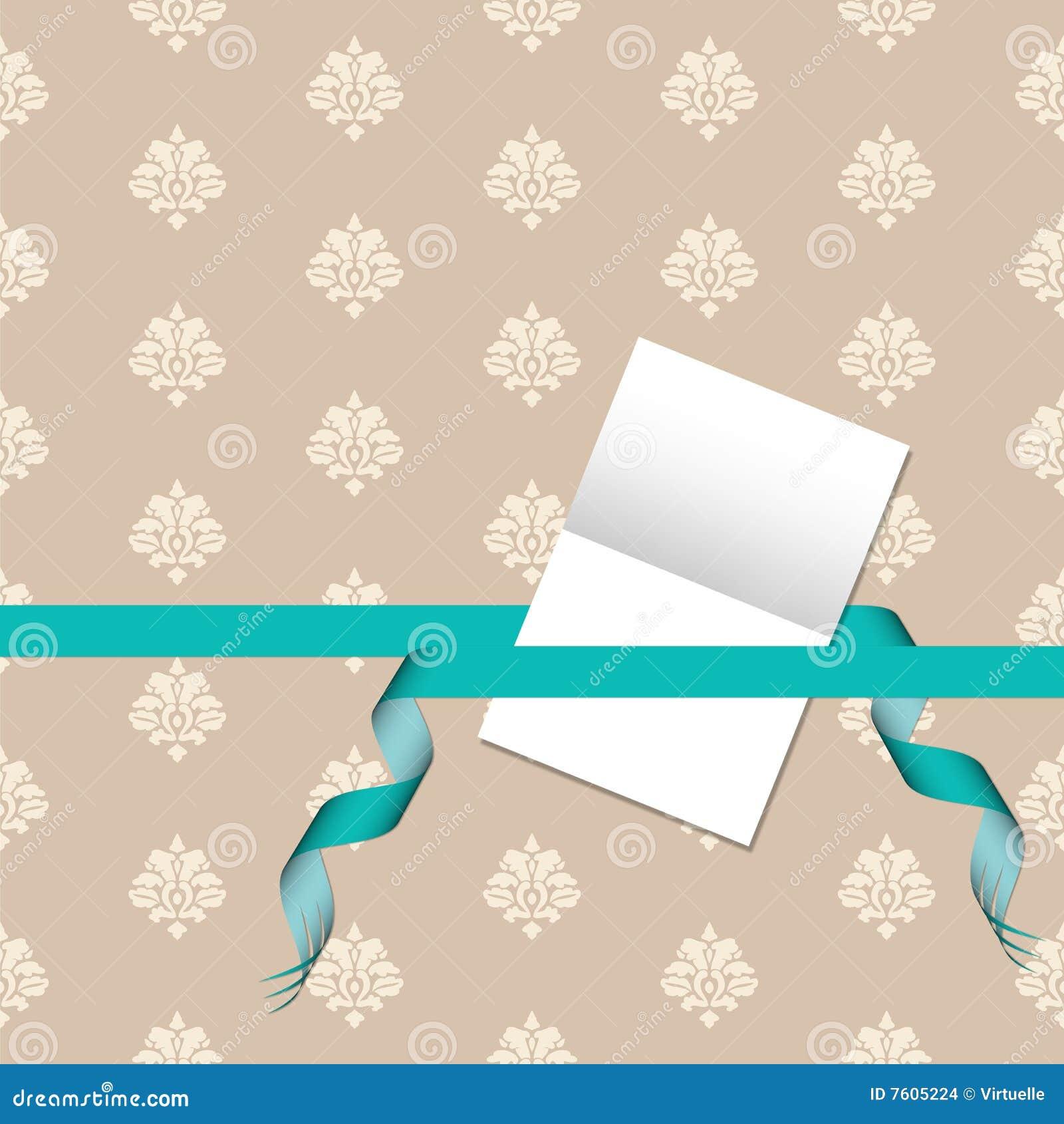 看板卡锦缎礼品绿色模式丝带