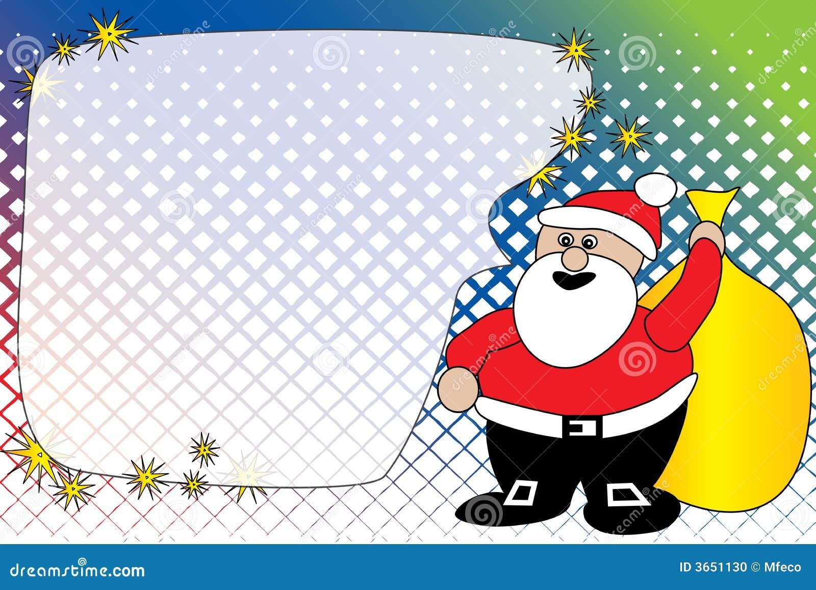看板卡问候圣诞老人