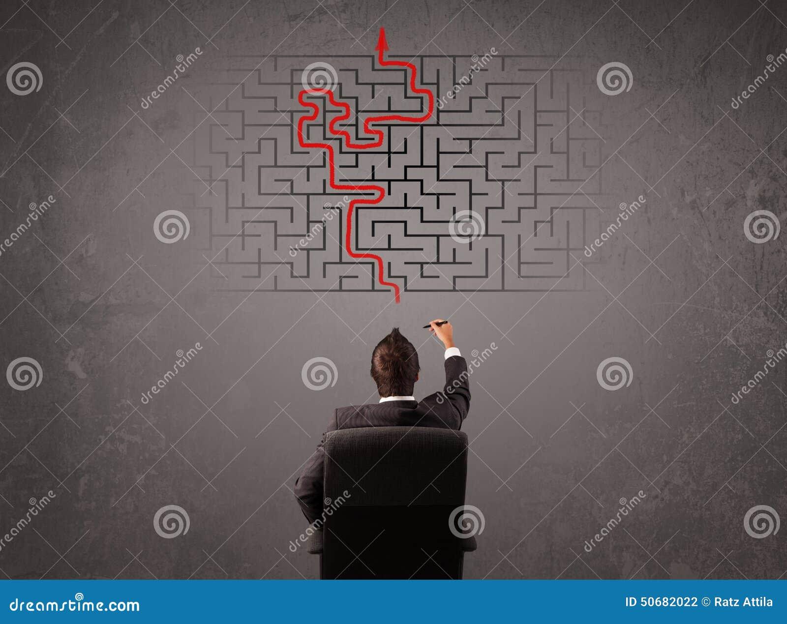 Download 看迷宫和出口的商人 库存照片. 图片 包括有 人们, 商业, 创造性, 混淆, 决心, 想法, 研究, 白种人 - 50682022