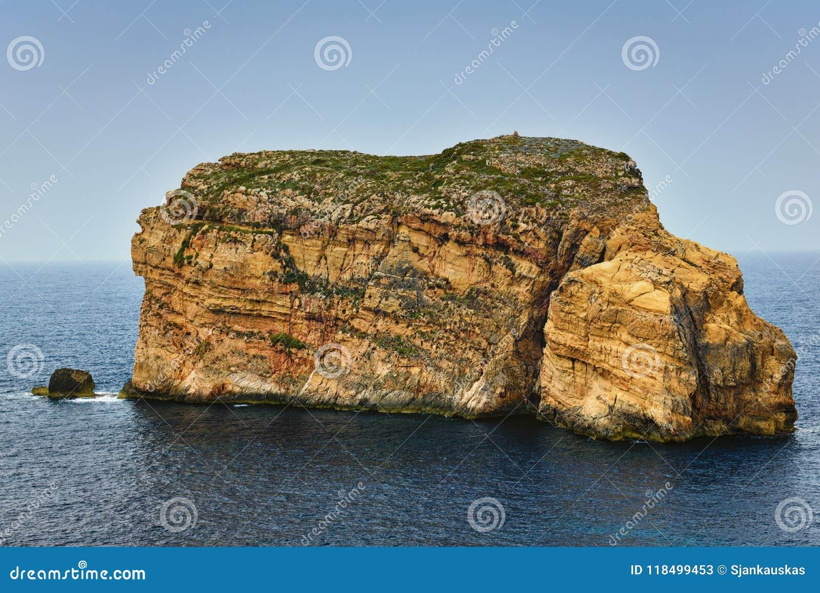 真菌岩石戈佐岛海岛马耳他