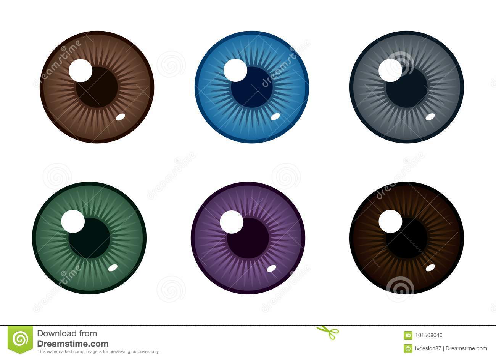 眼珠的人的学生 眼睛的颜色 也corel凹道例证向量