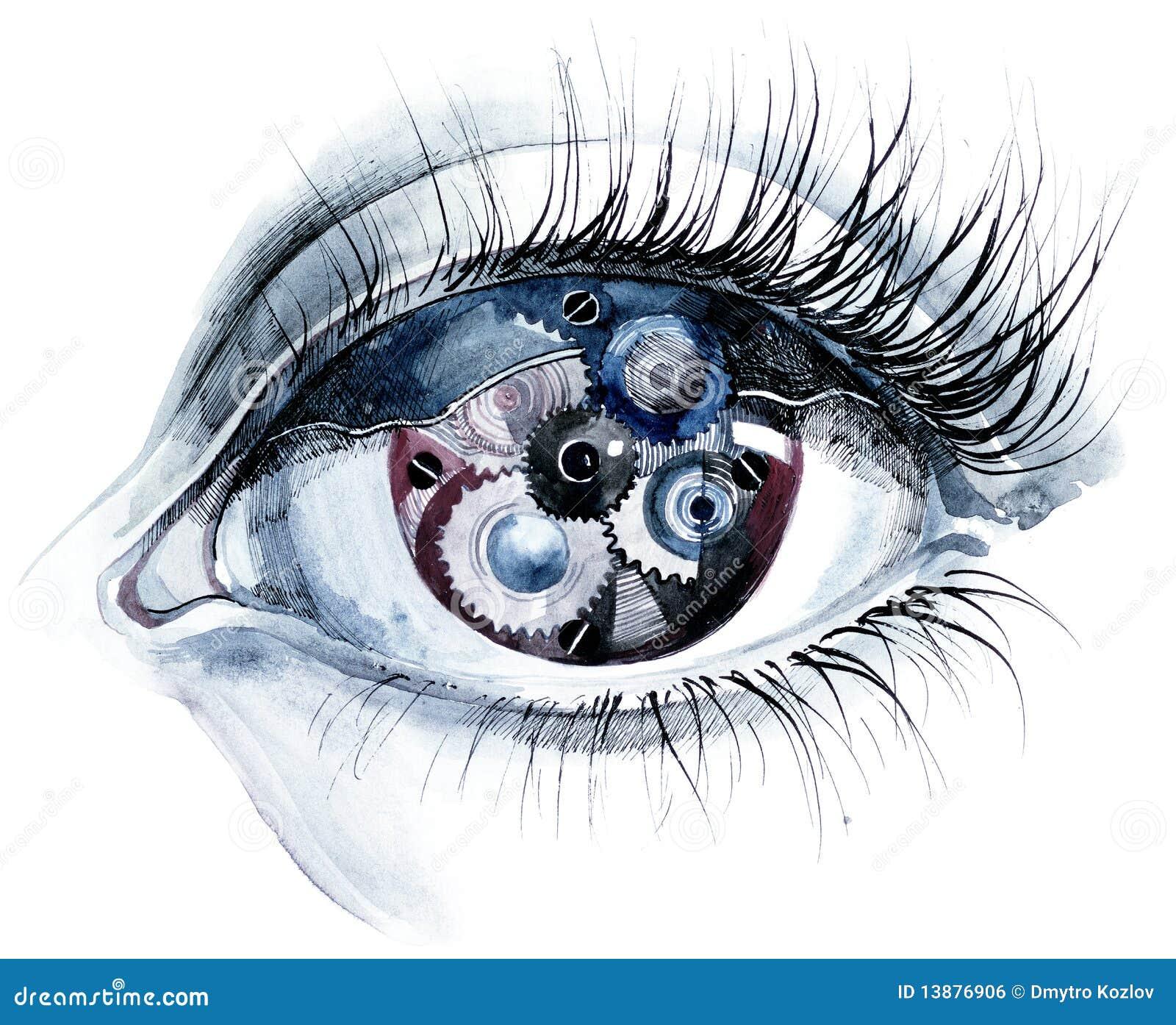 眼睛适应人力绘画.图片