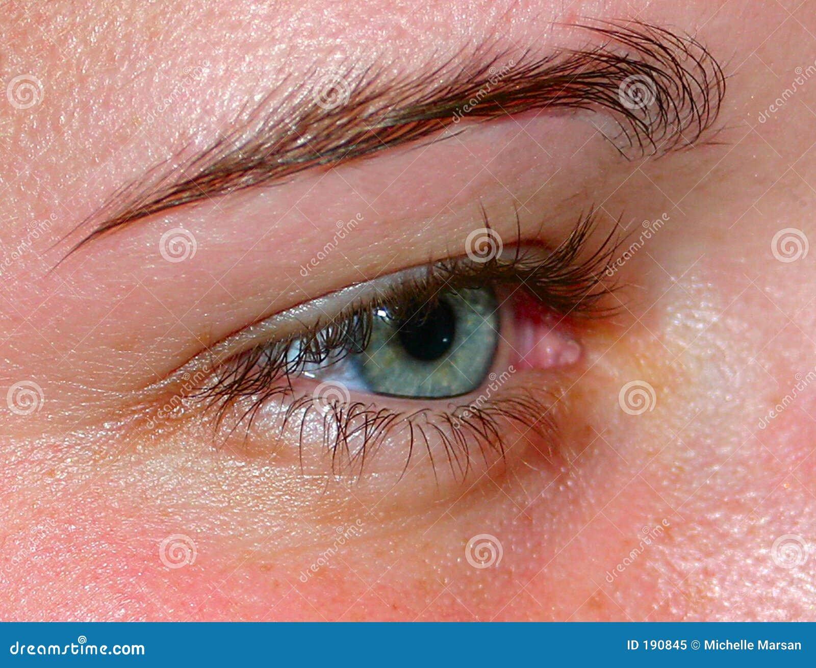 眼睛绿色人