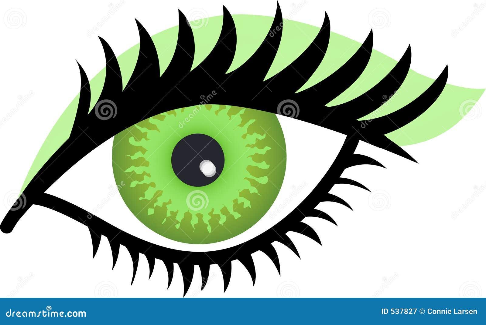 Download 眼睛绿色 库存例证. 插画 包括有 查出, 夹子, 性感, 特写镜头, 艺术, 染睫毛油, 图象, 方式, 图画 - 537827