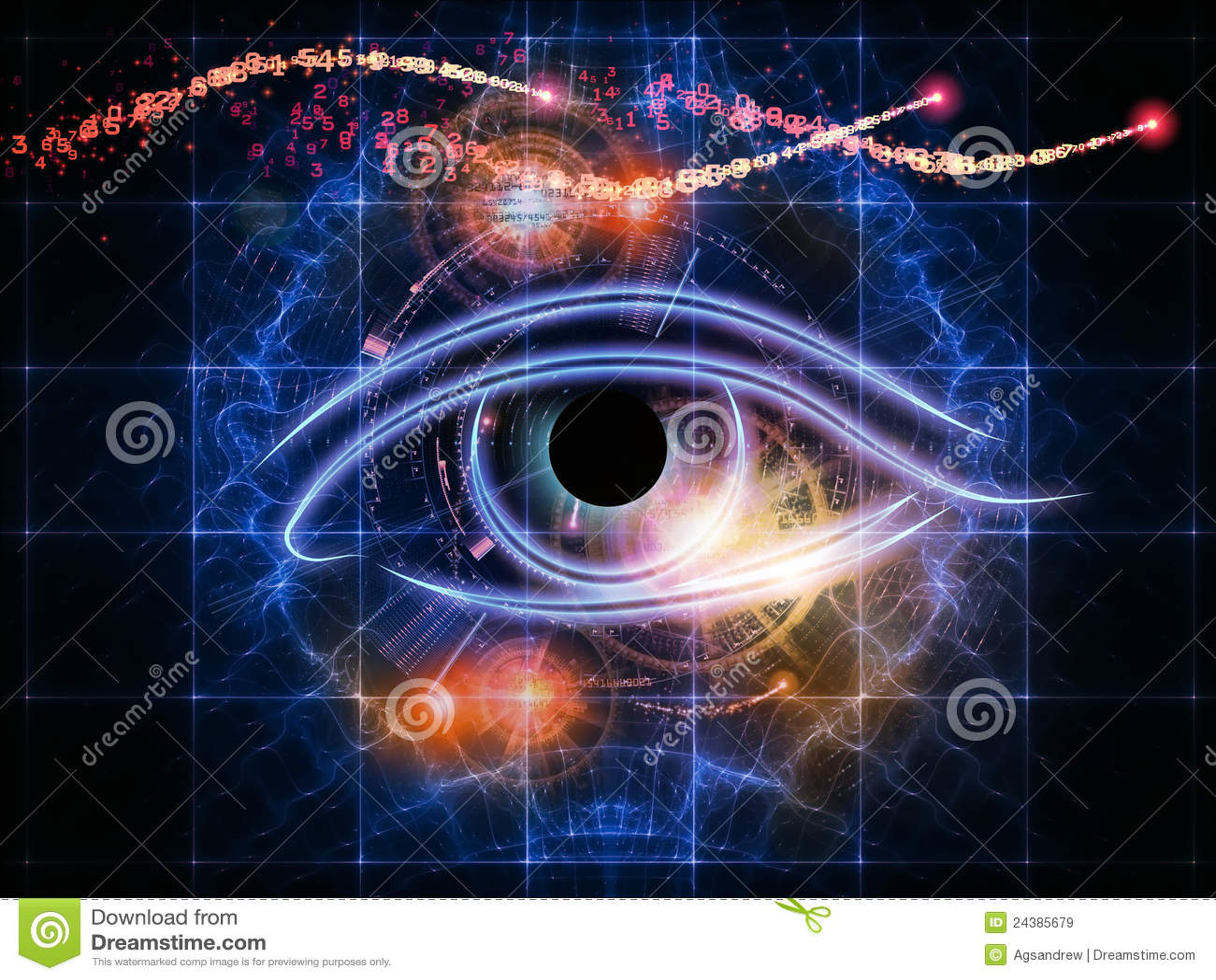 抽象人为,虚拟组成的设计数字式要素眼睛分数维想象智能机械隐喻图片