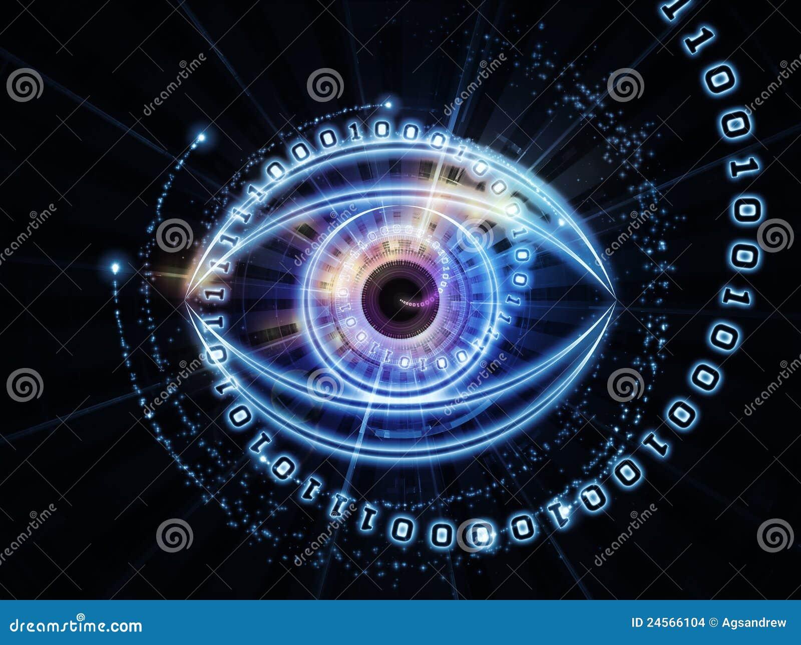 抽象人为,虚拟组成的设计数字式要素眼睛分数维想象智能机械隐喻现代图片