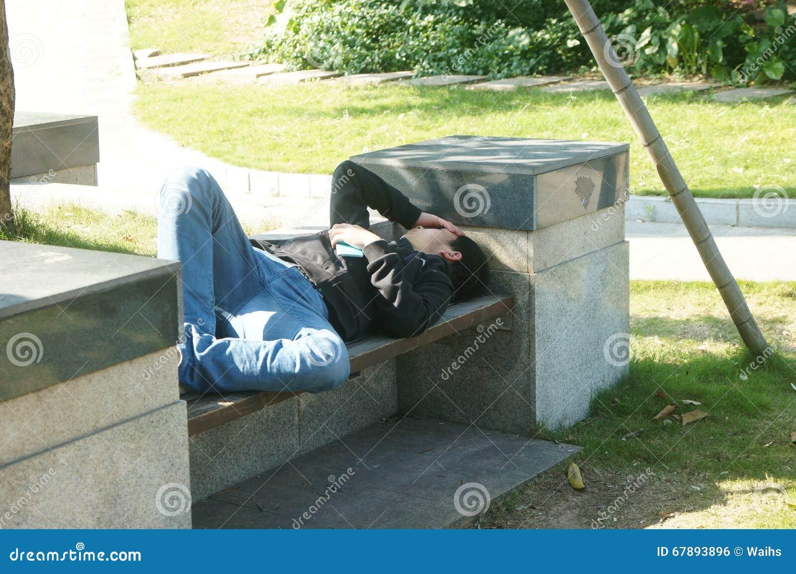 睡眠在公园