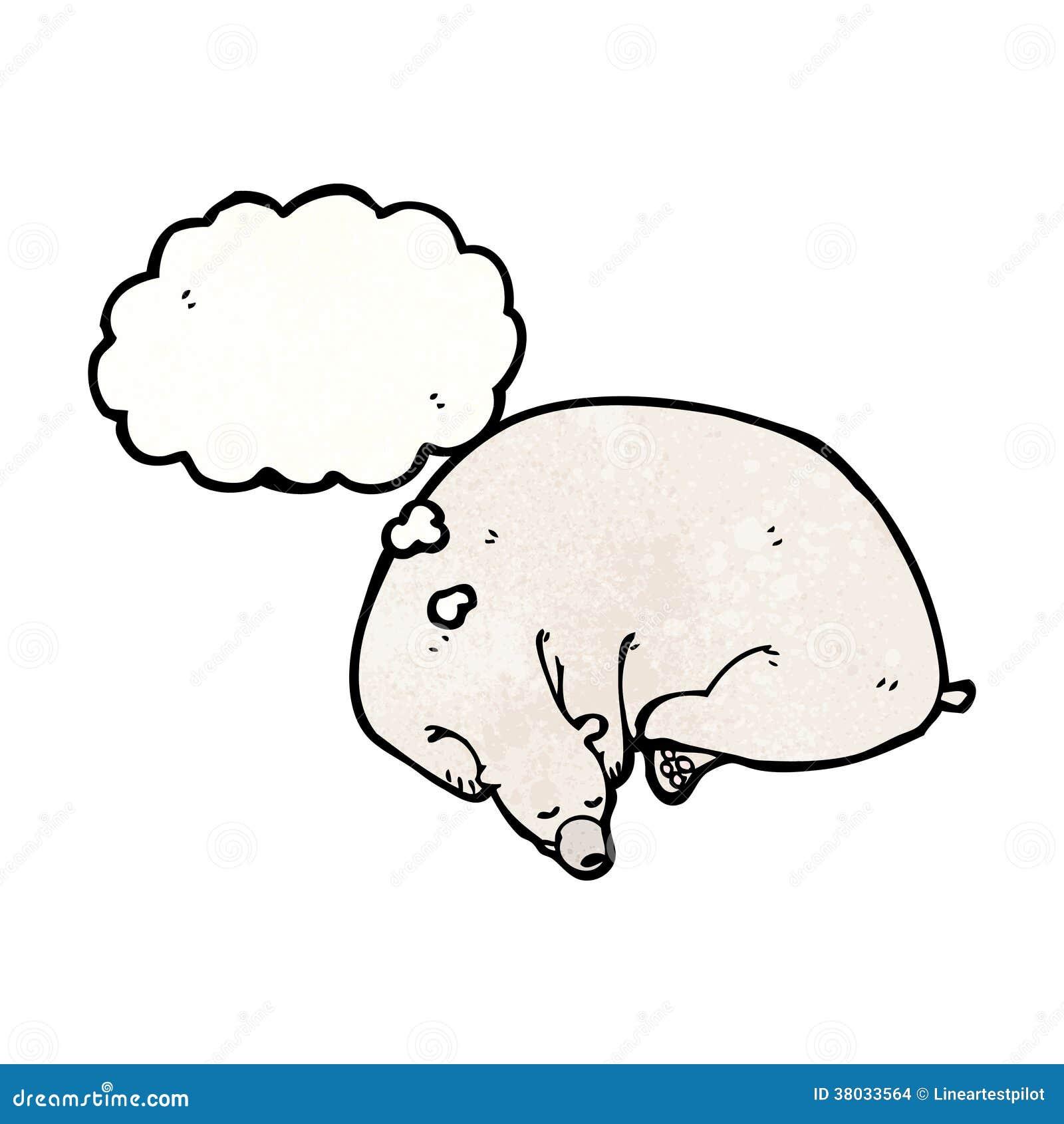 睡觉北极熊动画片图片