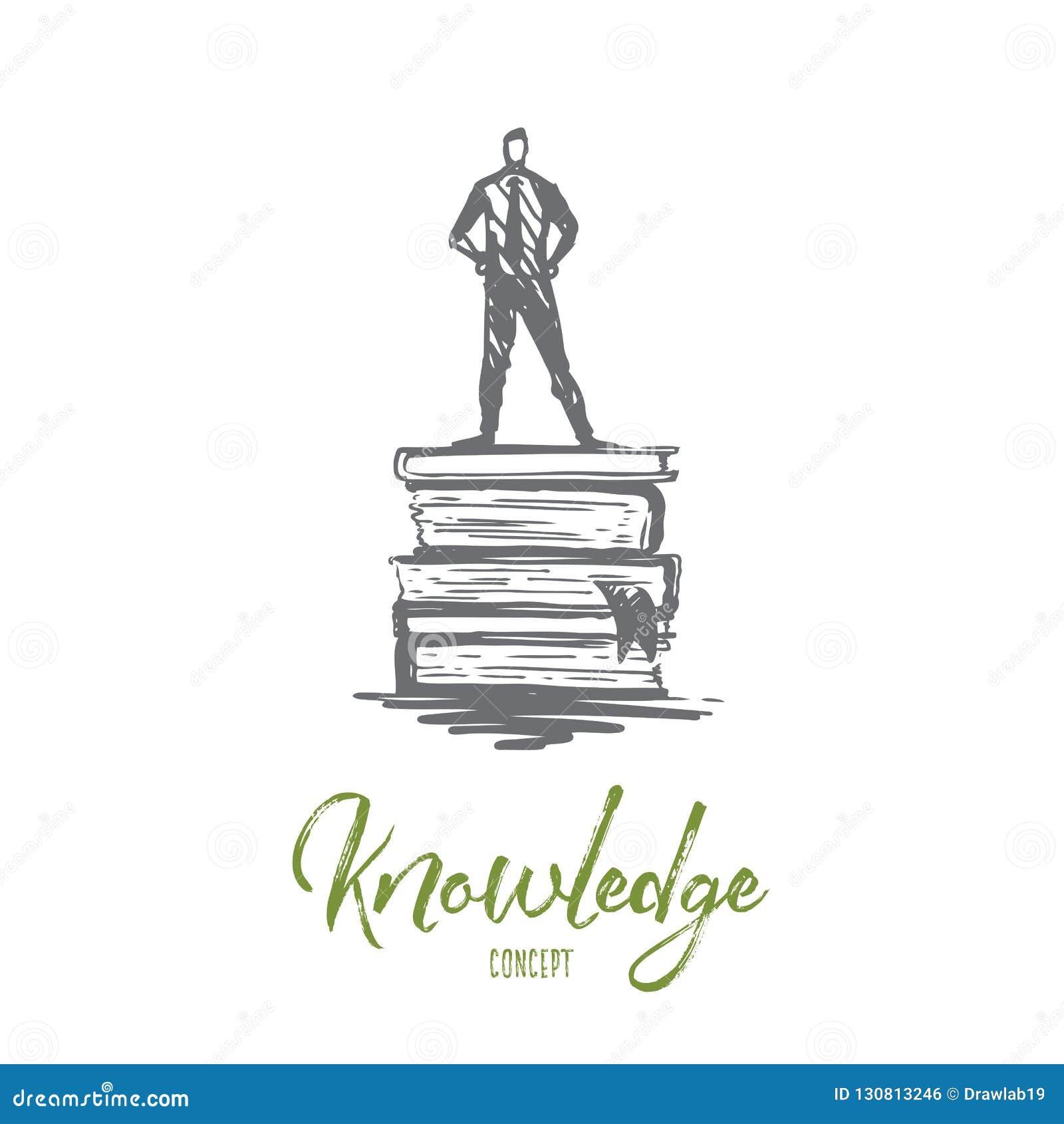 知识,书,教育,信息,学会概念 手拉的被隔绝的传染媒介