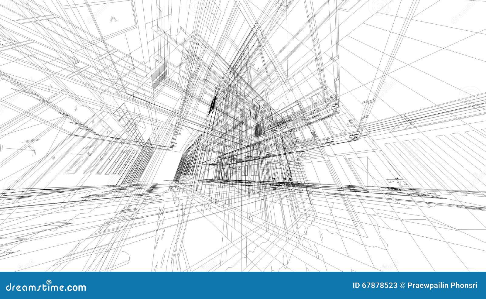 矩阵wireframe空间抽象3D翻译