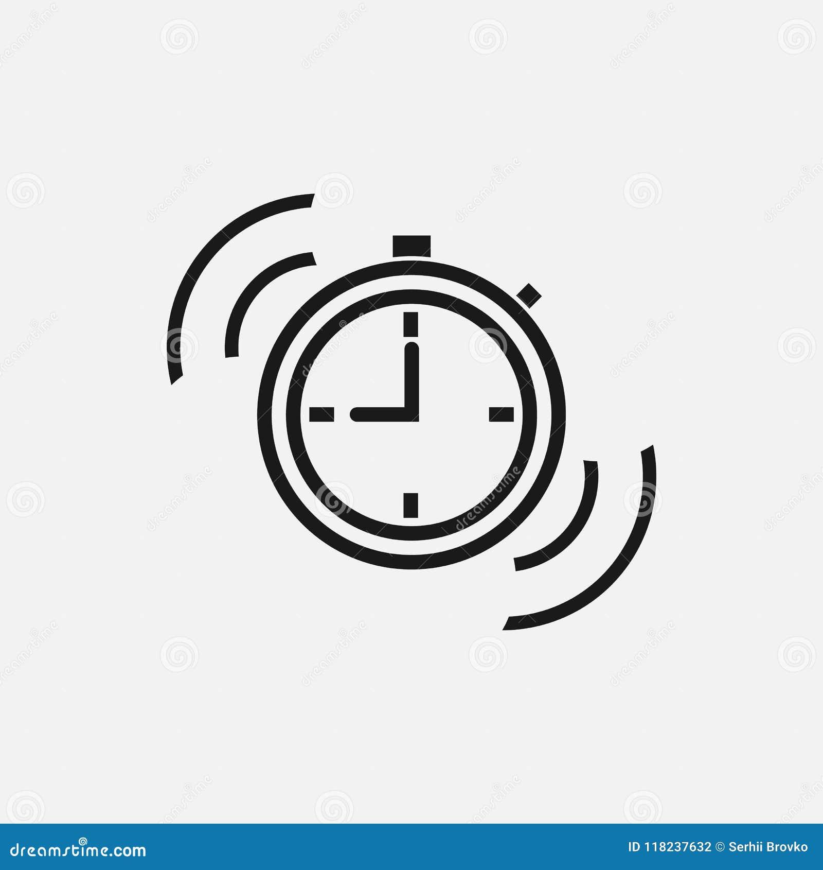 短时间标志 在白色背景的时间象 也corel凹道例证向量