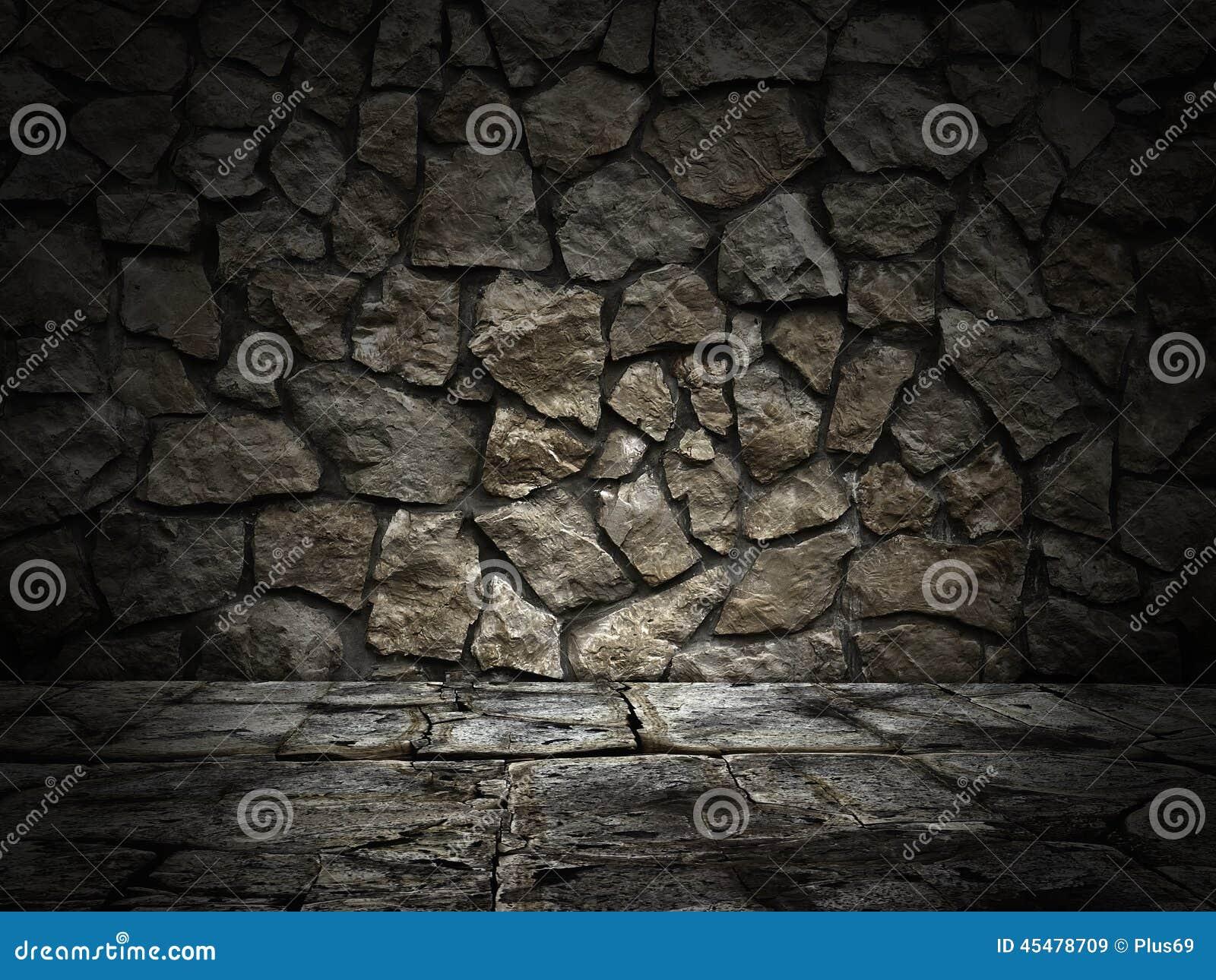 石墙和楼层 光线影响
