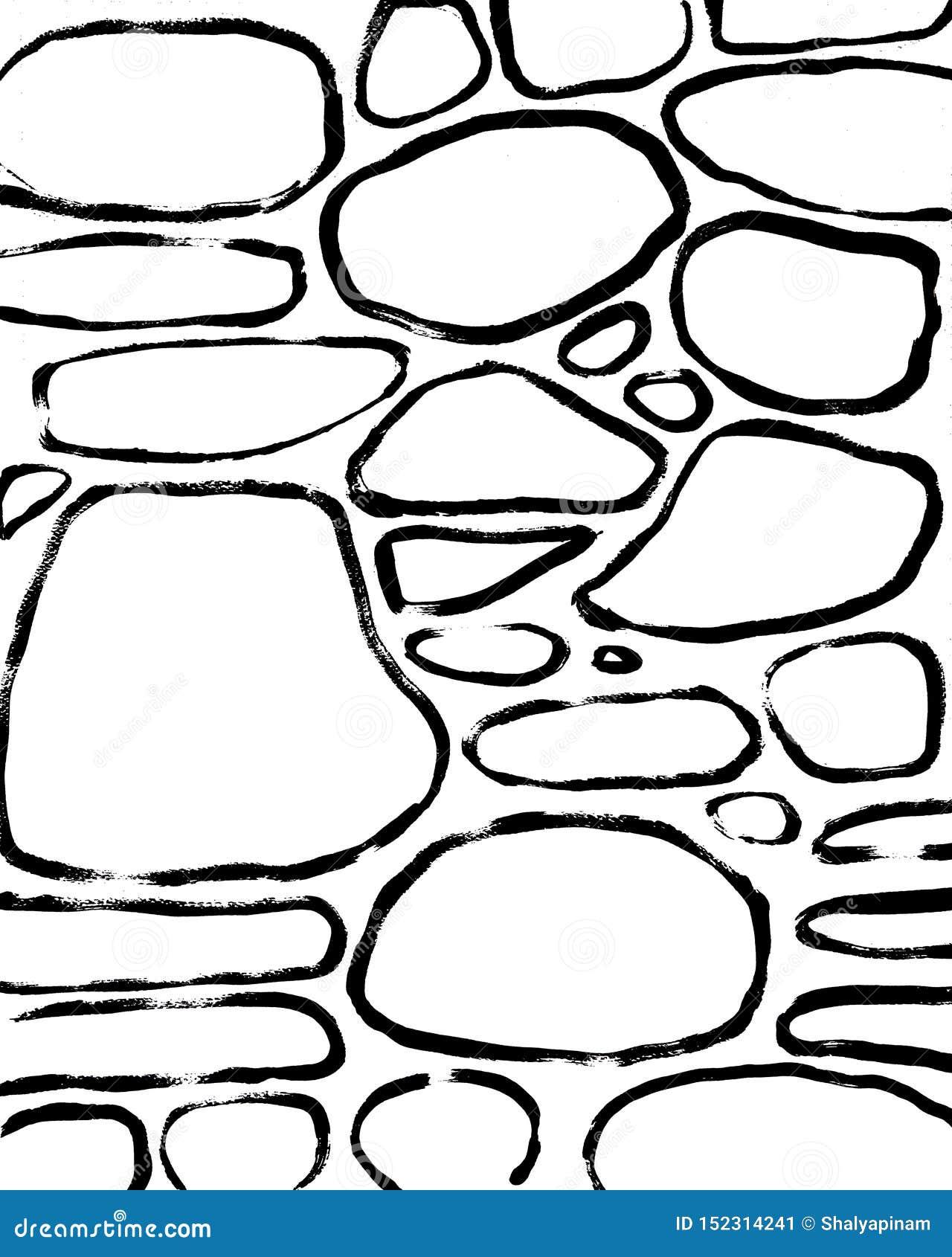 石头背景 摘要手拉的内部岗位
